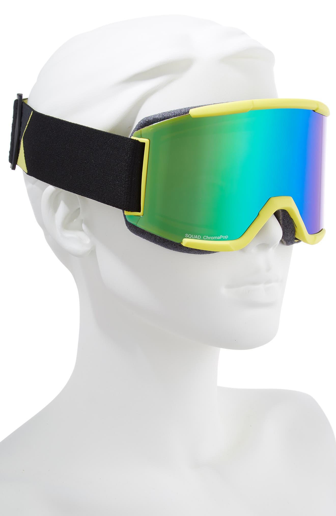 Squad Chromapop 180mm Snow Goggles,                             Alternate thumbnail 2, color,                             CITRON GLOW