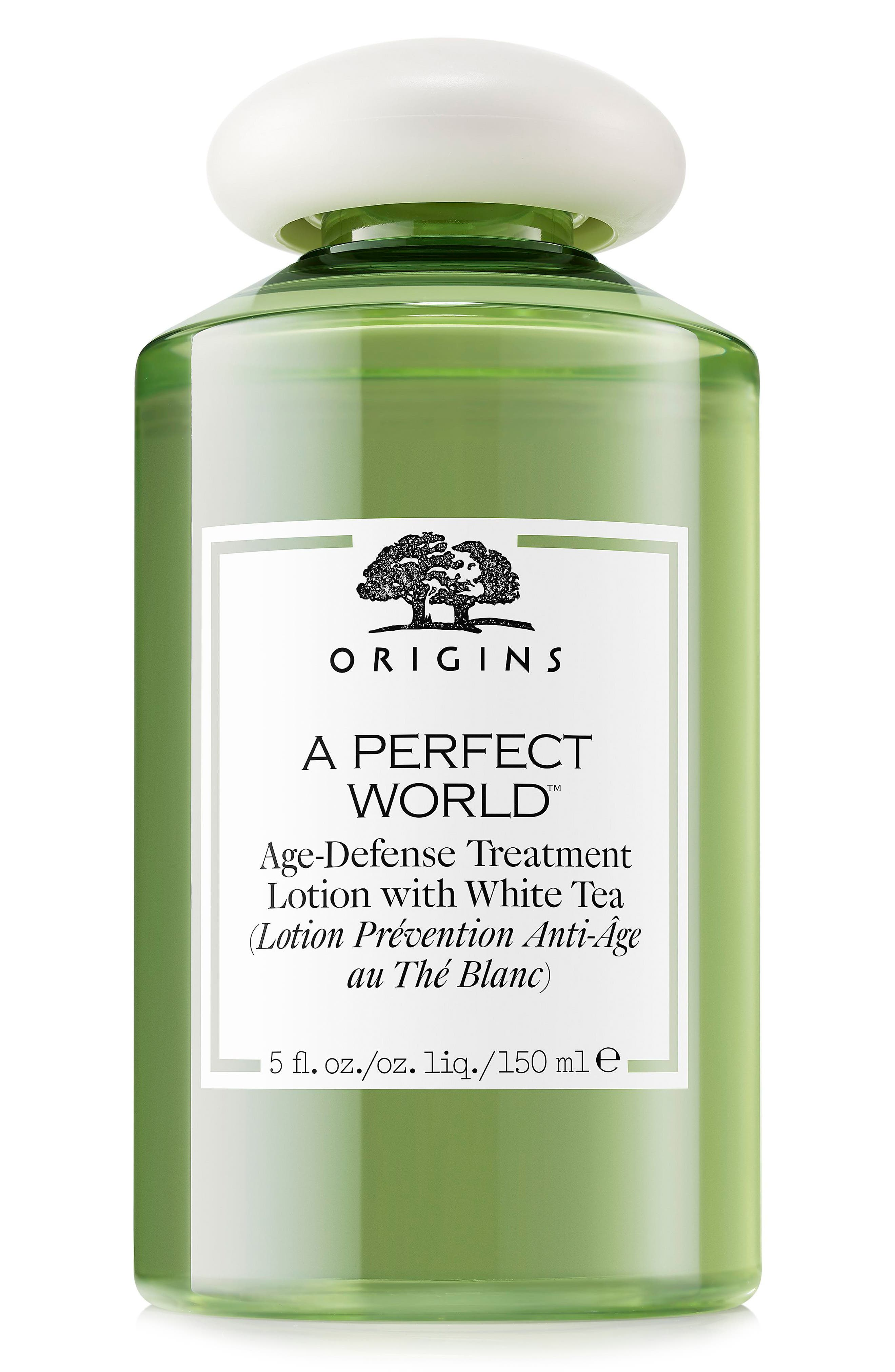 A Perfect World<sup>™</sup> Age-Defense Treatment Lotion with White Tea,                             Main thumbnail 1, color,