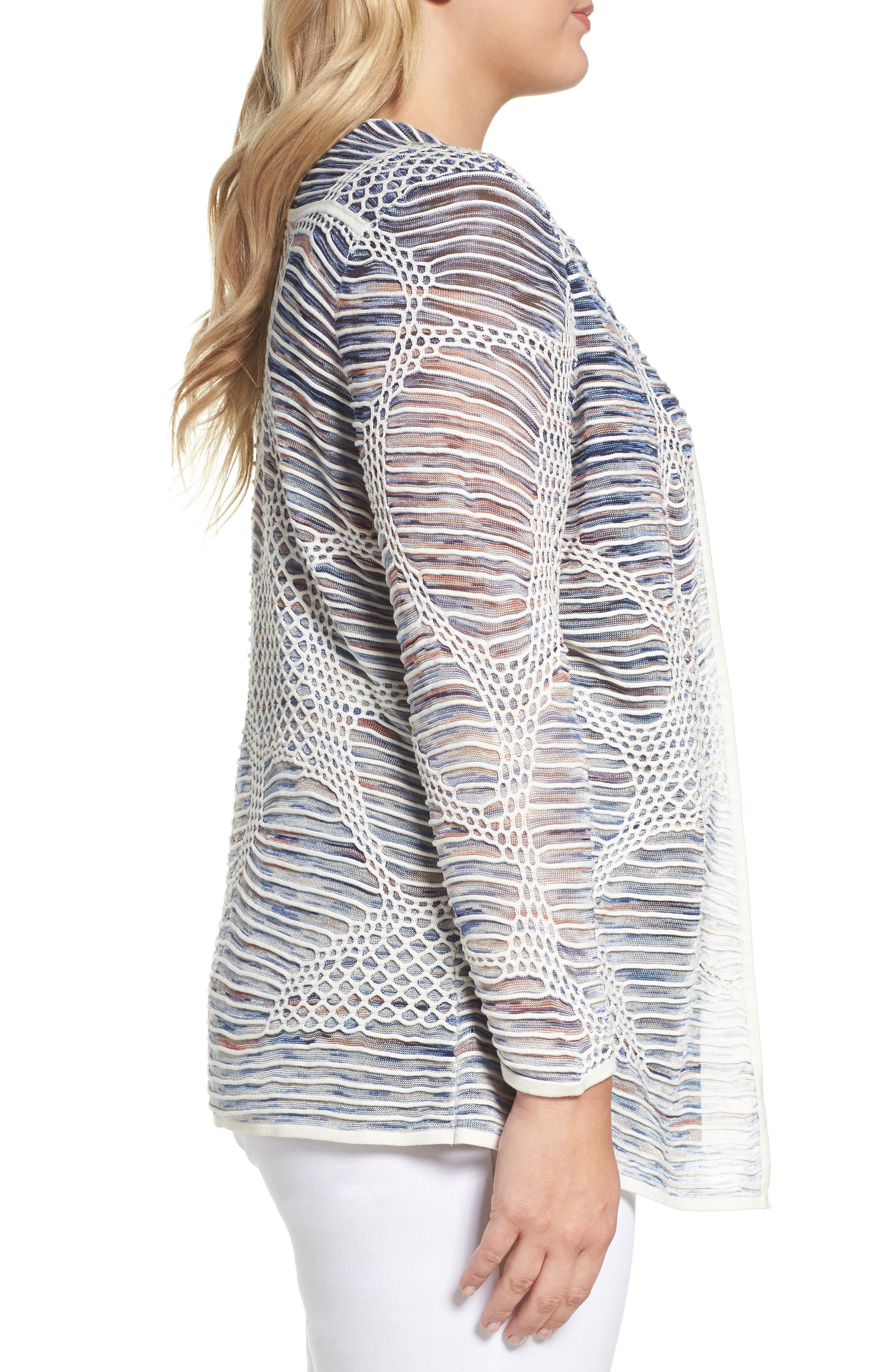 Wildflower Open Front Cardigan,                             Alternate thumbnail 3, color,                             MULTI