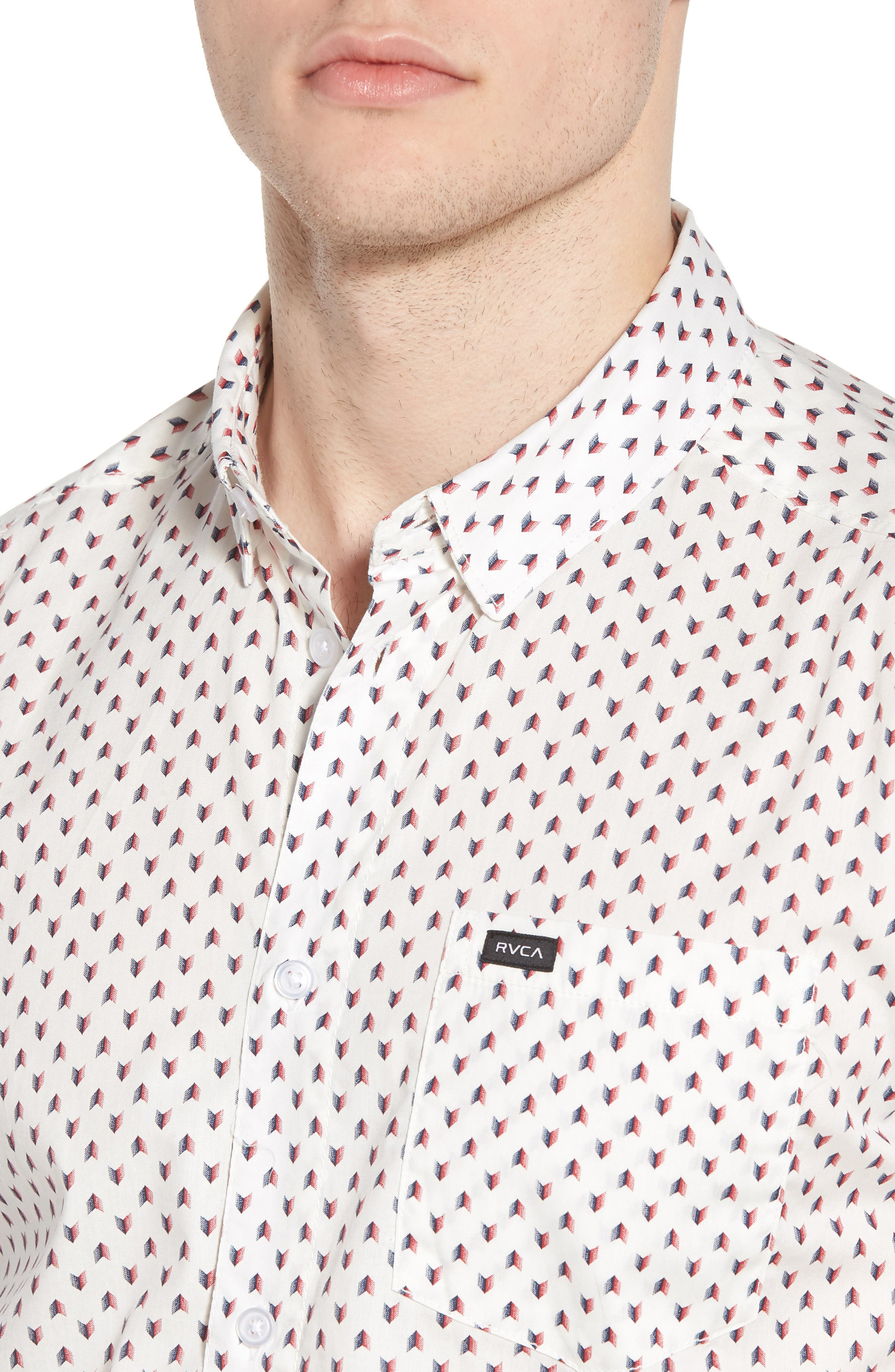Arrowed Woven Shirt,                             Alternate thumbnail 8, color,