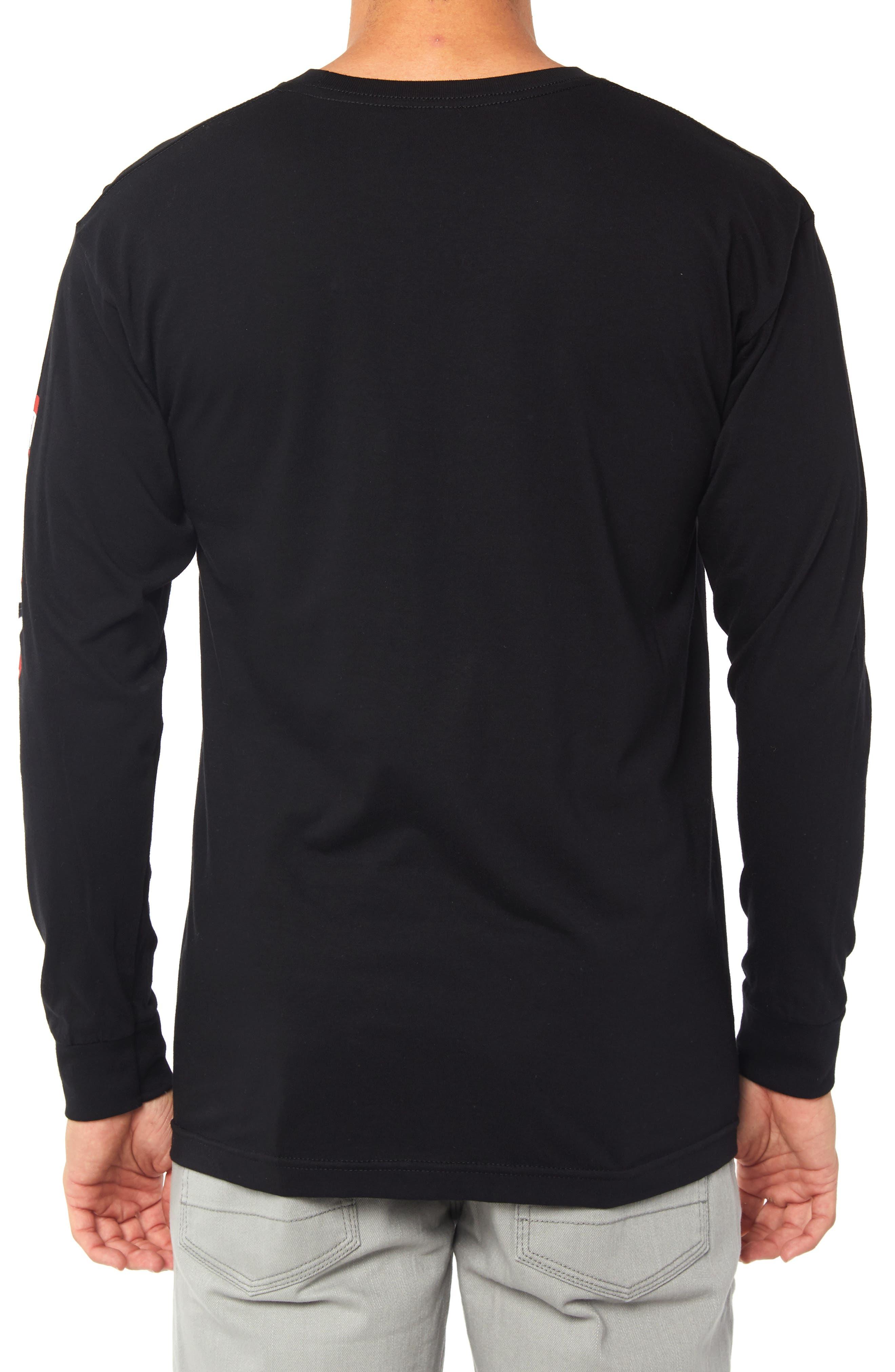 Pebbles Graphic Long Sleeve T-Shirt,                             Alternate thumbnail 2, color,                             BLACK