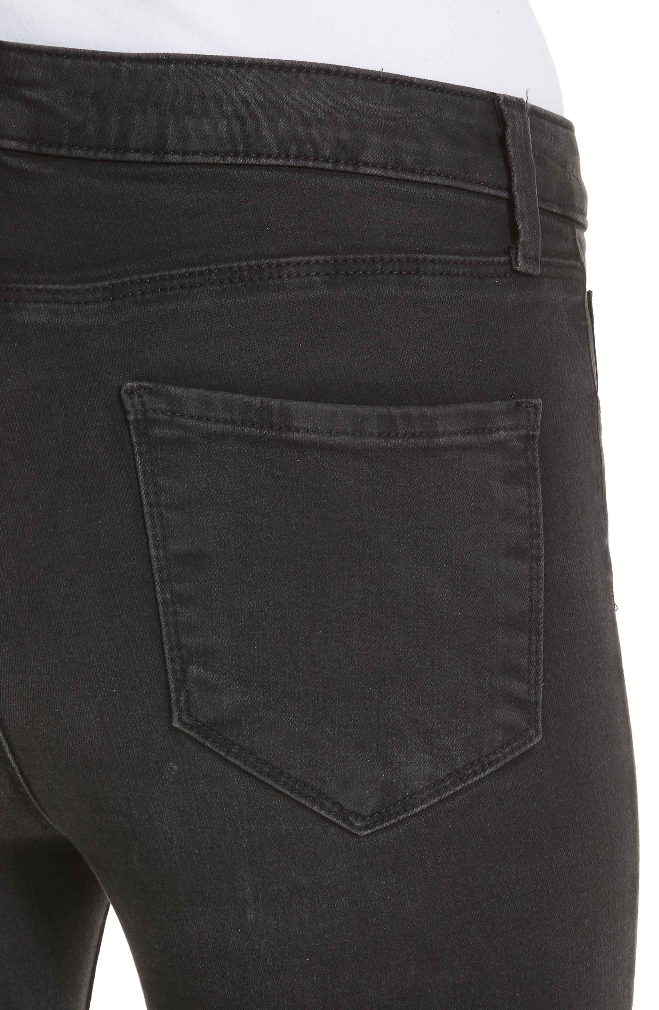 Margot Crop Skinny Jeans,                             Alternate thumbnail 4, color,                             DARK GRAPHITE