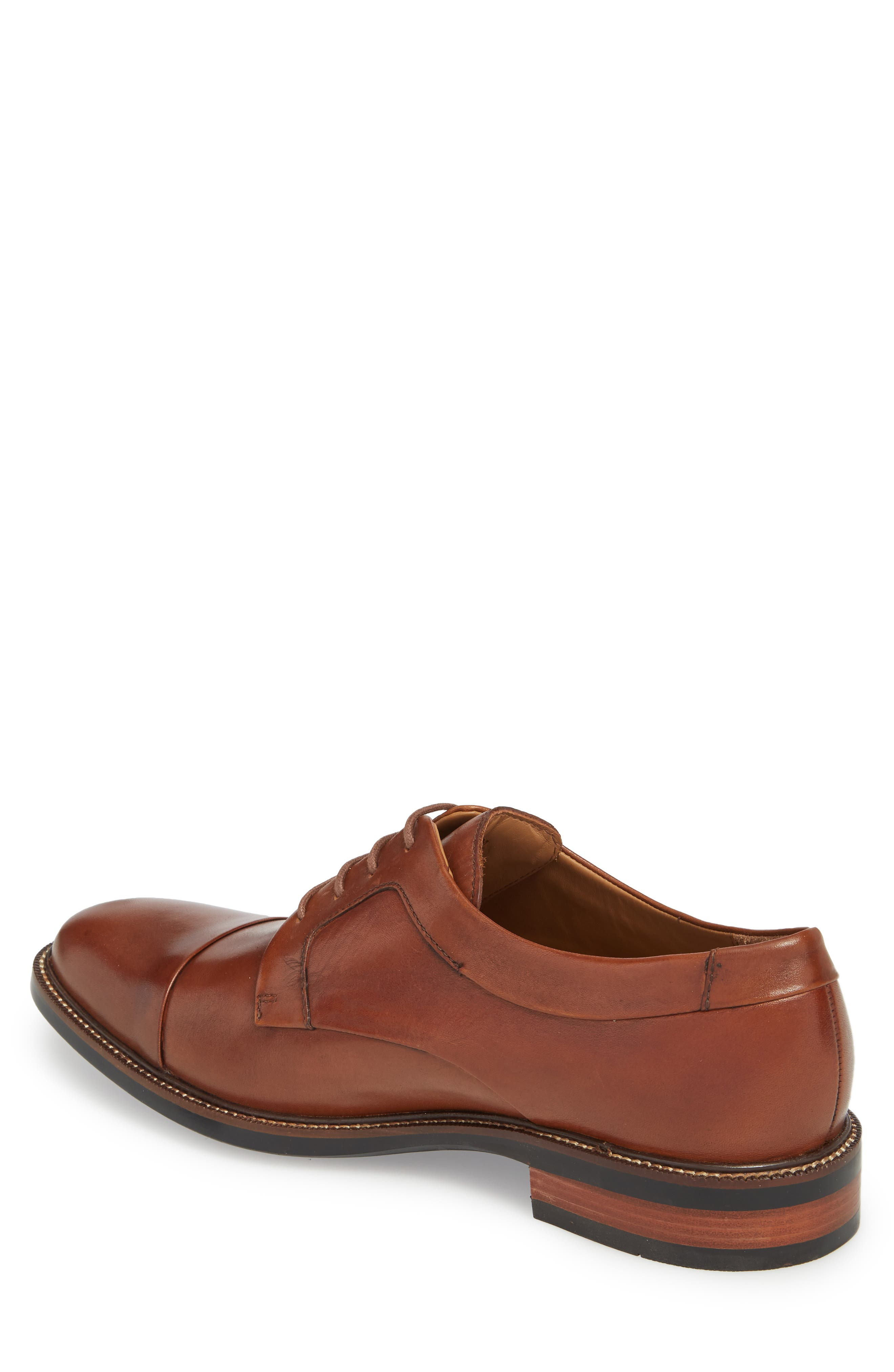Warren Cap Toe Derby,                             Alternate thumbnail 2, color,                             BRITISH TAN LEATHER