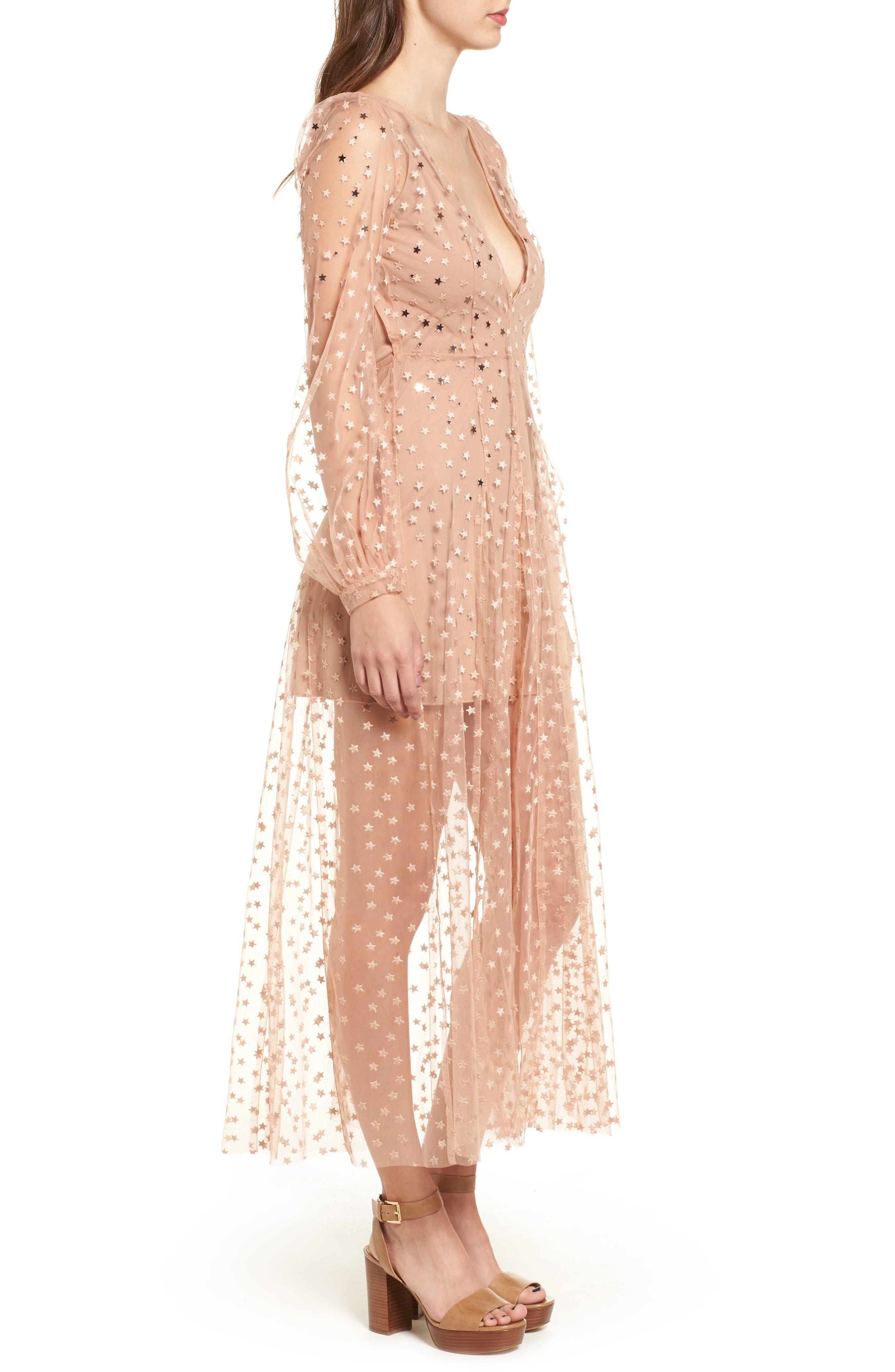 All That Glitters Midi Dress,                             Alternate thumbnail 3, color,
