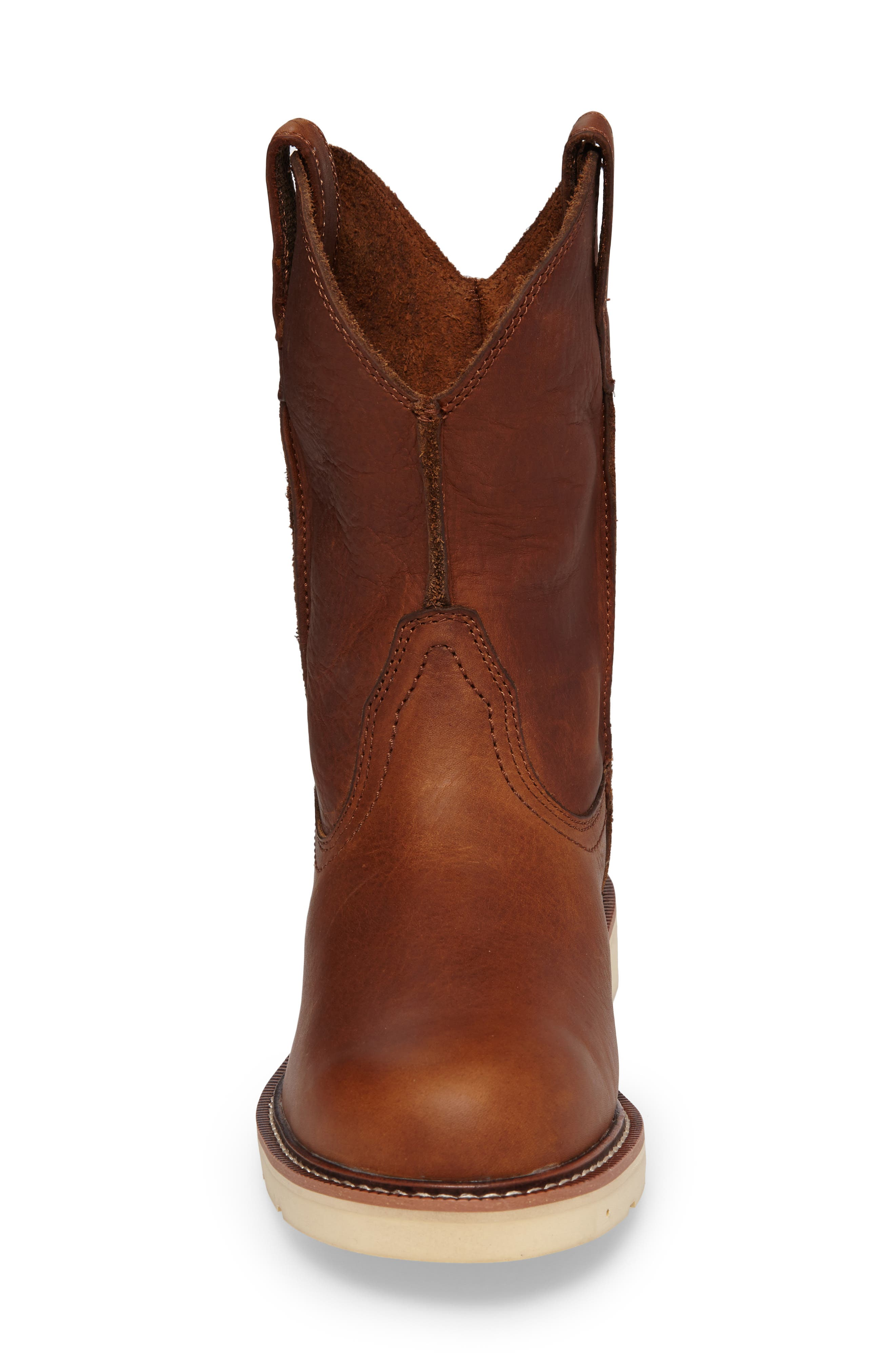 Rambler Boot,                             Alternate thumbnail 4, color,                             BROWN LEATHER