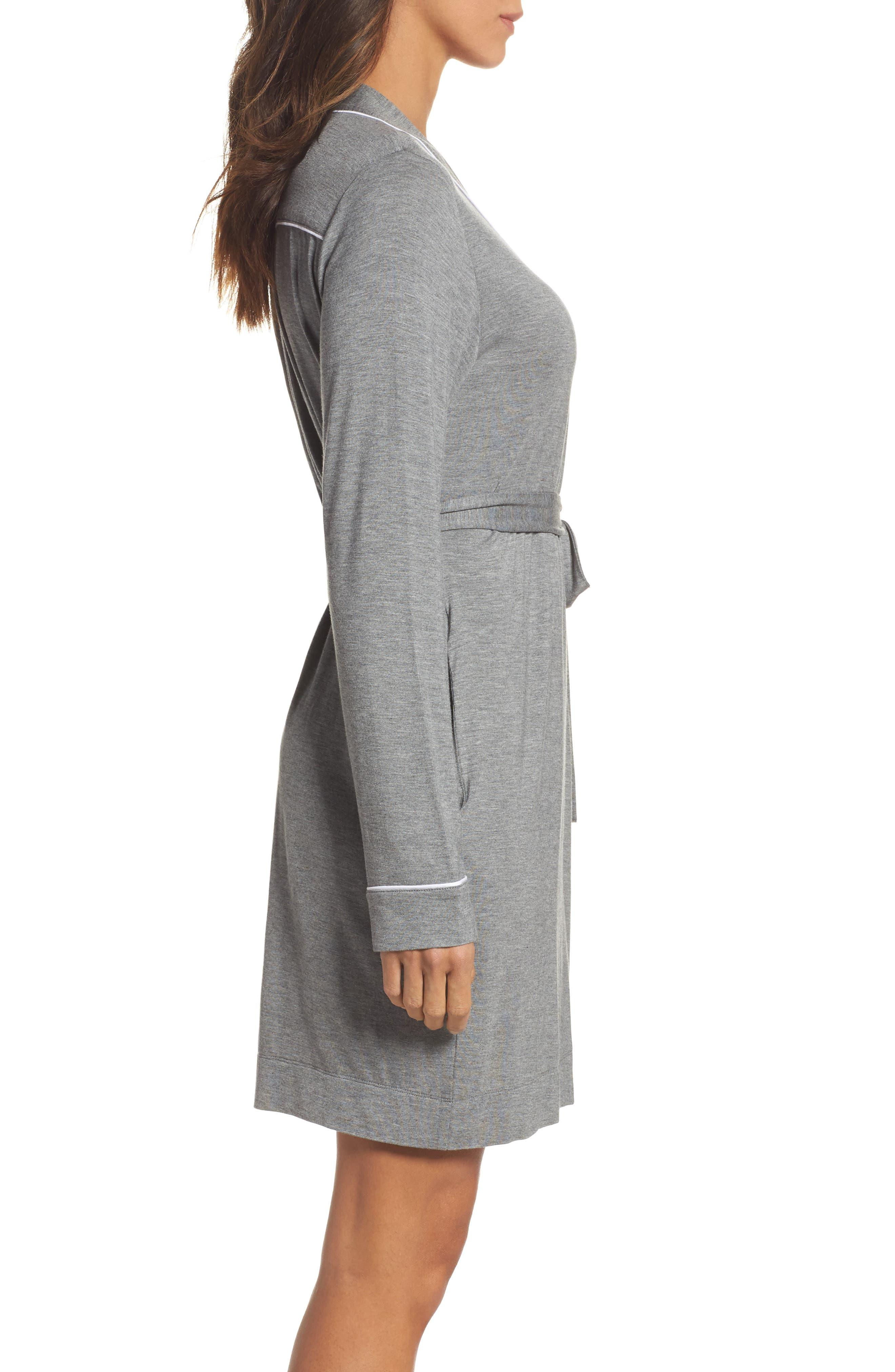 Aldridge Short Robe,                             Alternate thumbnail 3, color,                             GREY HEATHER