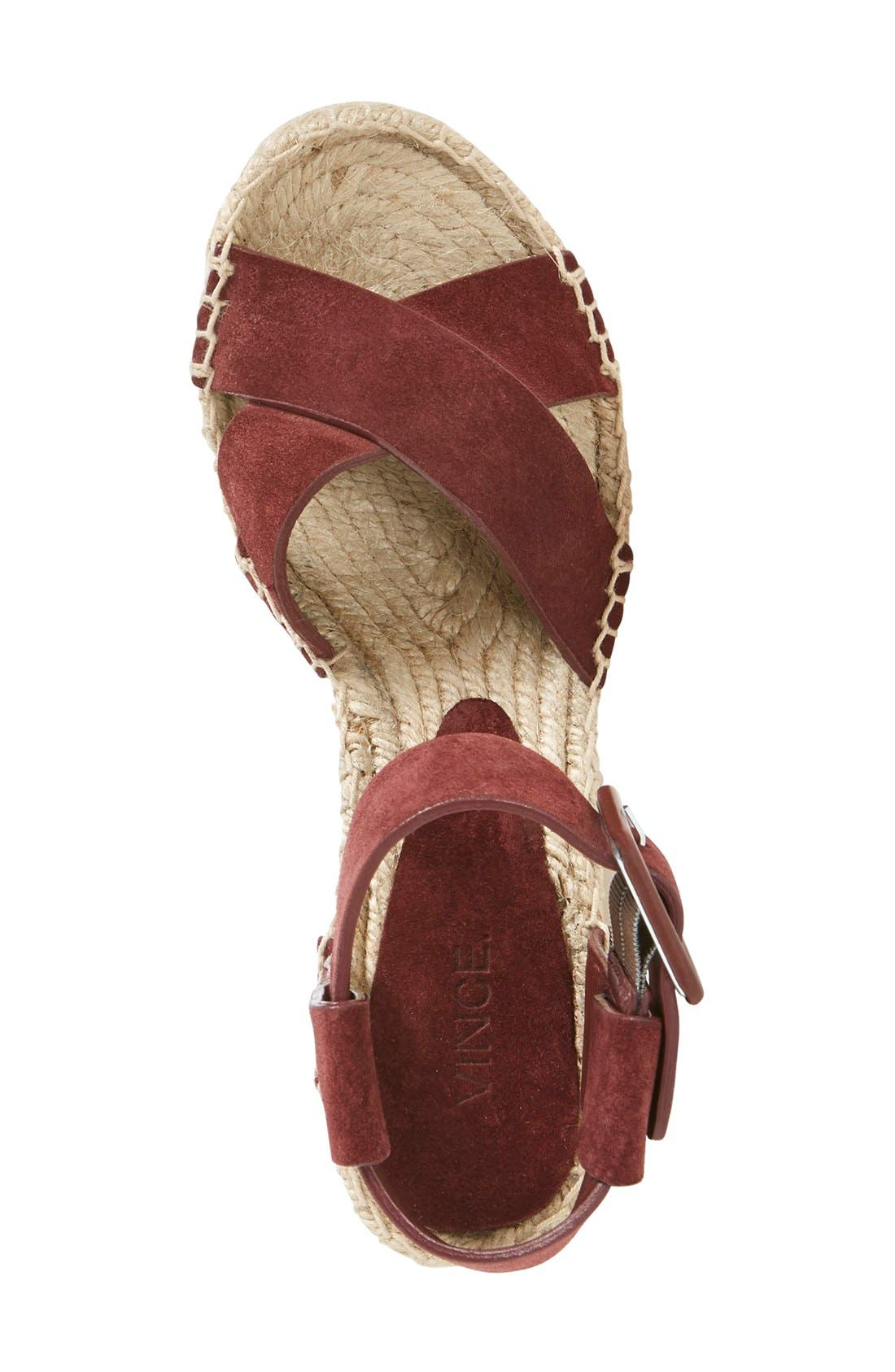 'Stefania' Espadrille Wedge Sandal,                             Alternate thumbnail 3, color,                             200
