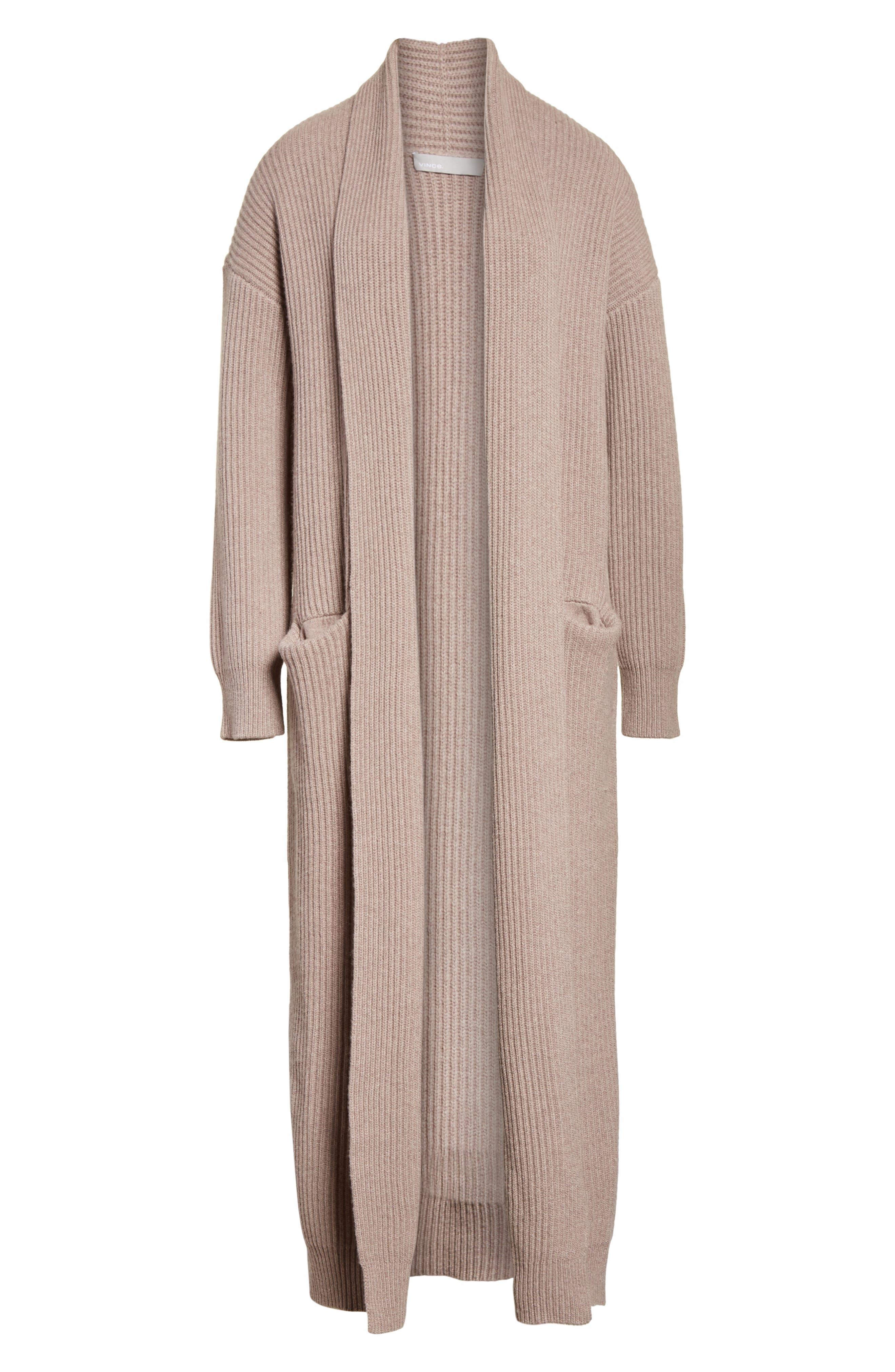 VINCE,                             Long Knit Sweater Robe,                             Alternate thumbnail 6, color,                             260