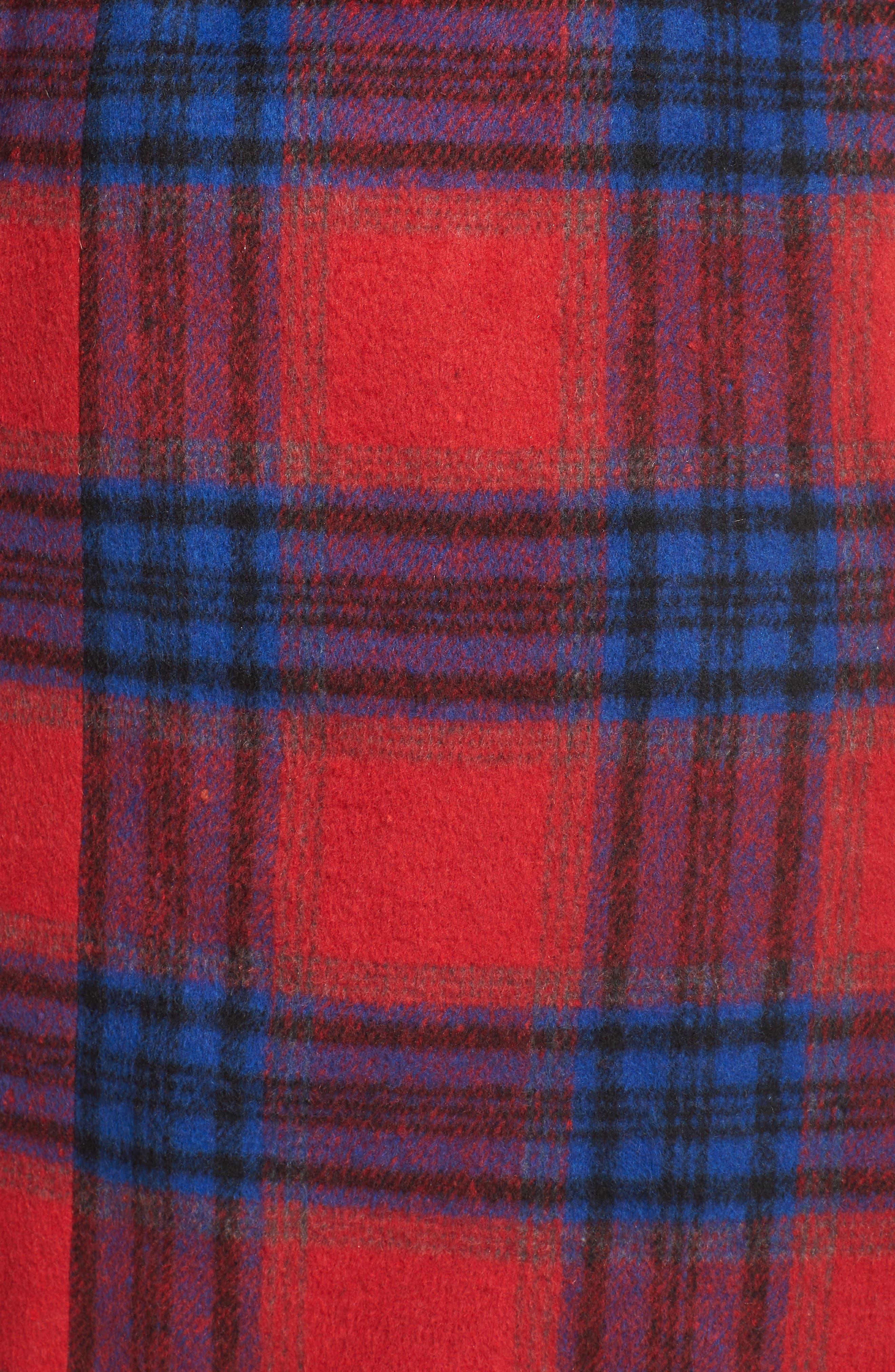 Double Breasted Plaid Jacket,                             Alternate thumbnail 7, color,                             RED CHINOISE RITA PLAID