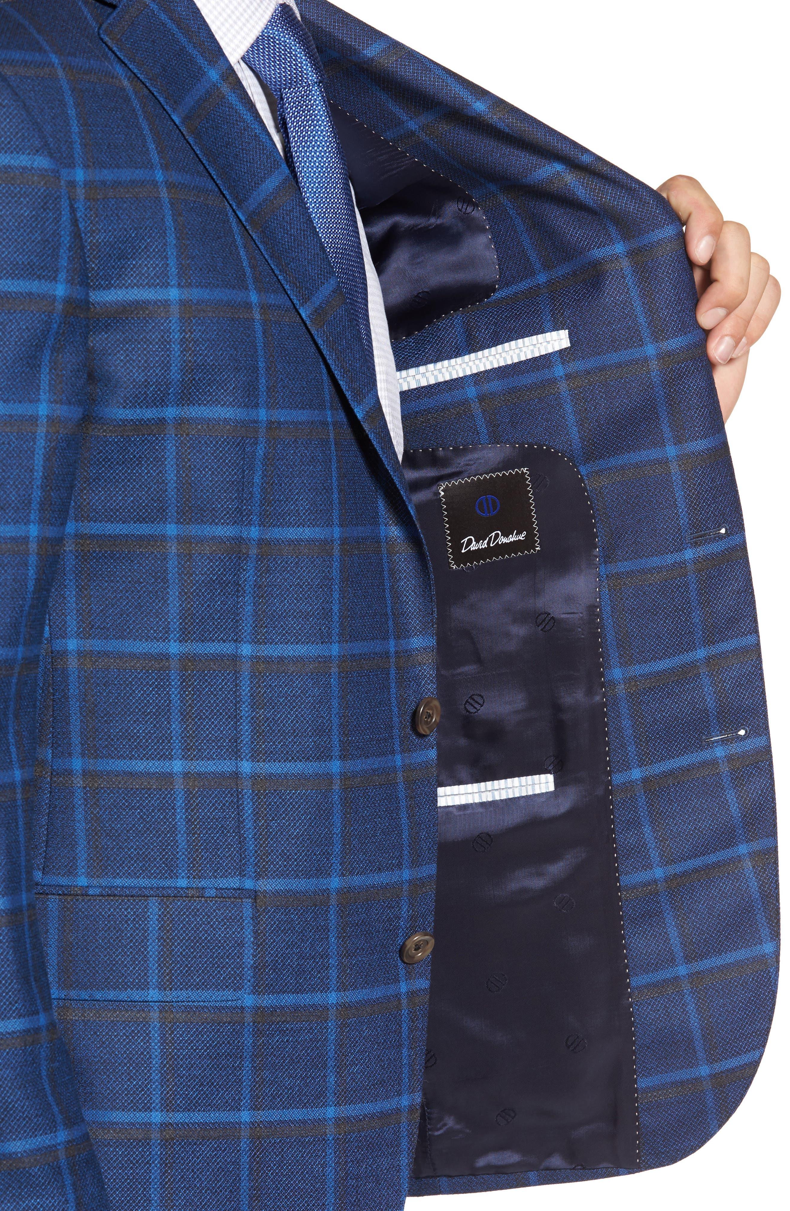 Connor Classic Fit Plaid Sport Coat,                             Alternate thumbnail 4, color,                             400