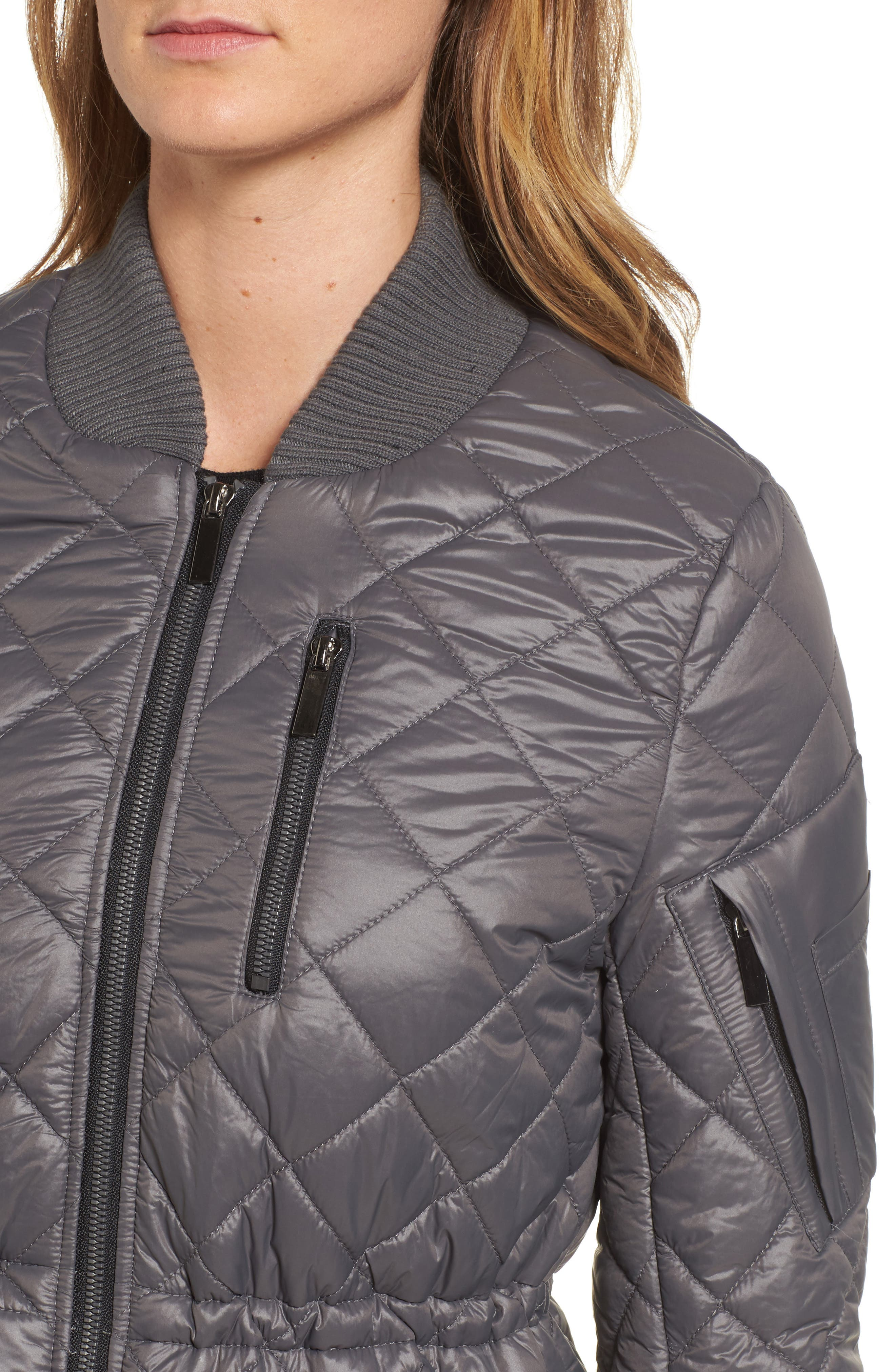 Quilted Anorak Jacket,                             Alternate thumbnail 11, color,