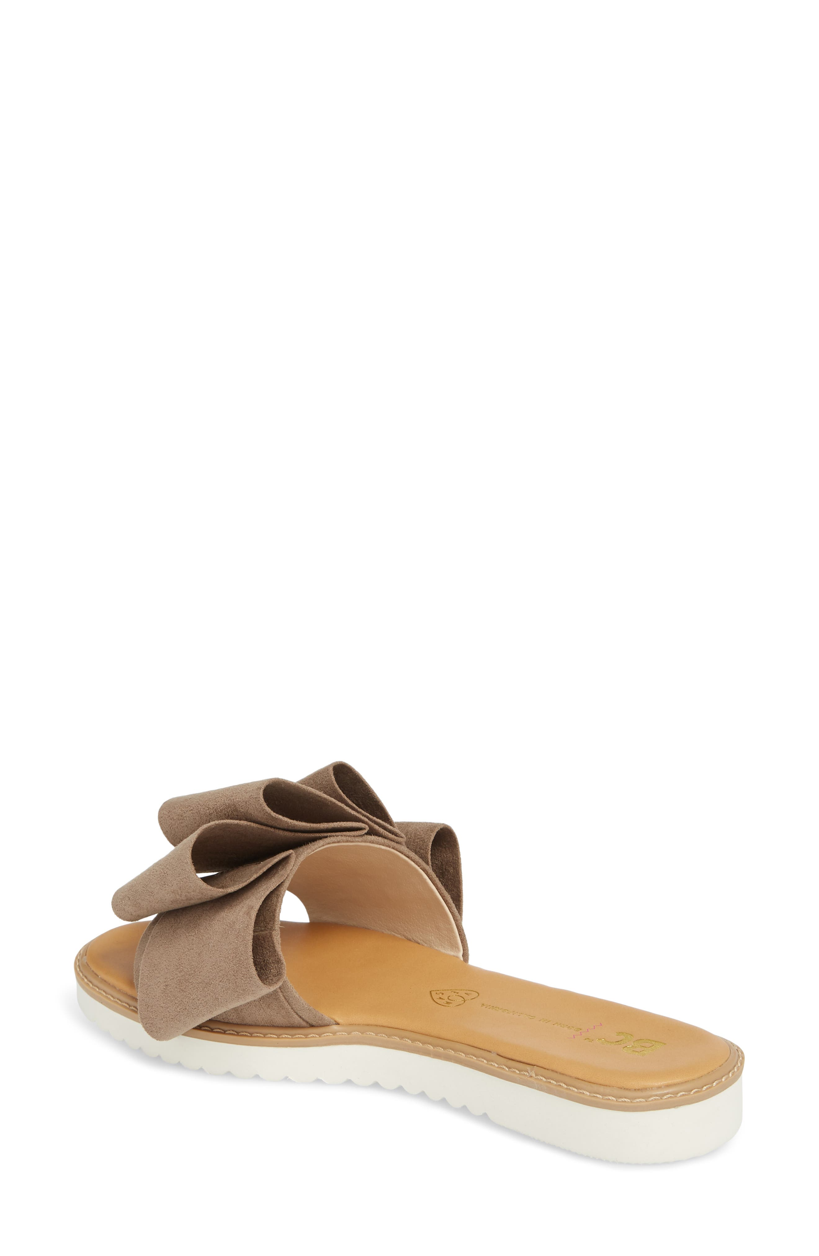Fun for All Ages Pleated Sandal,                             Alternate thumbnail 2, color,                             TAUPE SUEDE