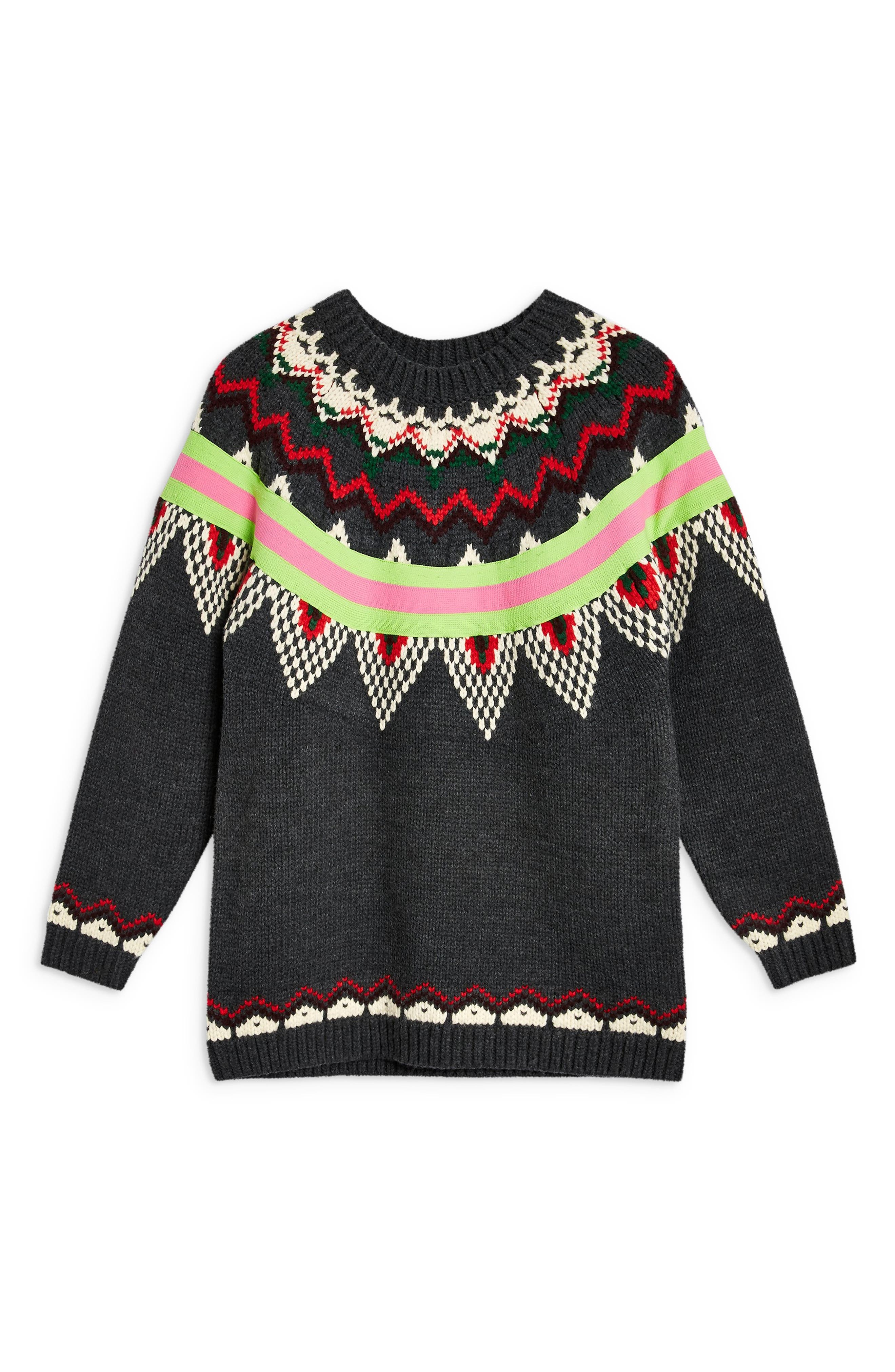 Fluro Fair Isle Sweater,                             Alternate thumbnail 4, color,                             021