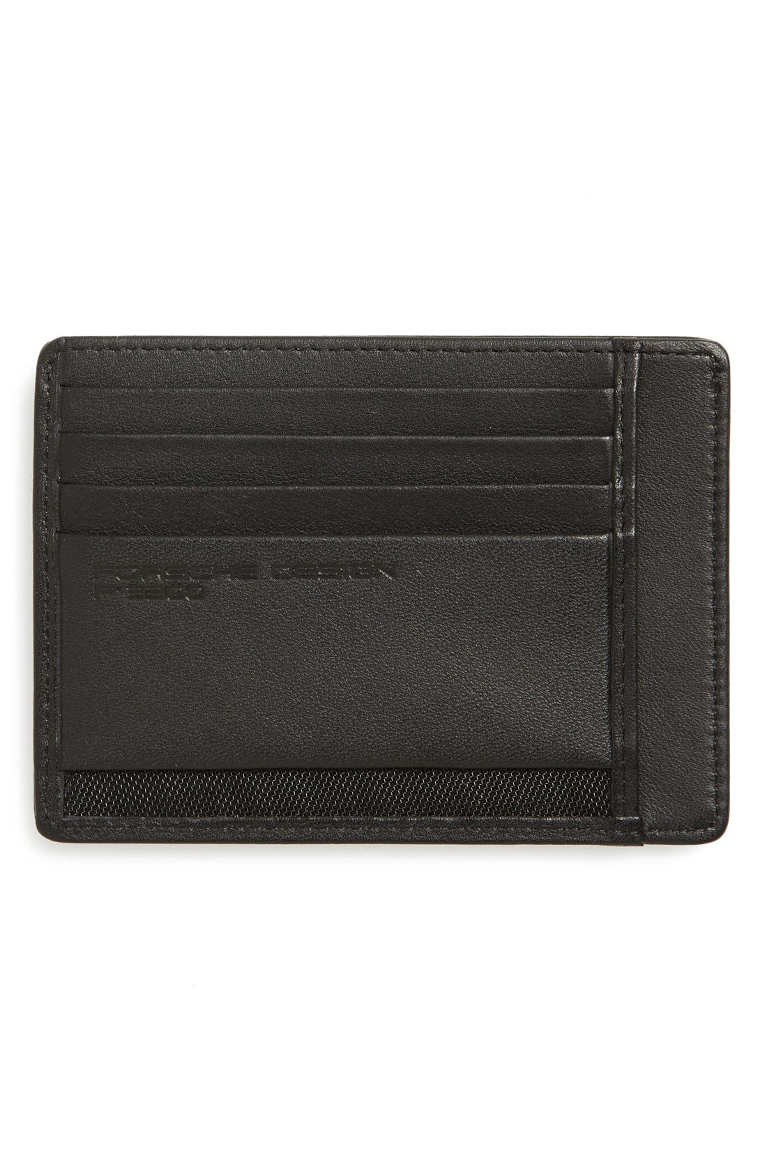 'CL2 2.0' Leather Card Holder,                             Alternate thumbnail 2, color,                             001