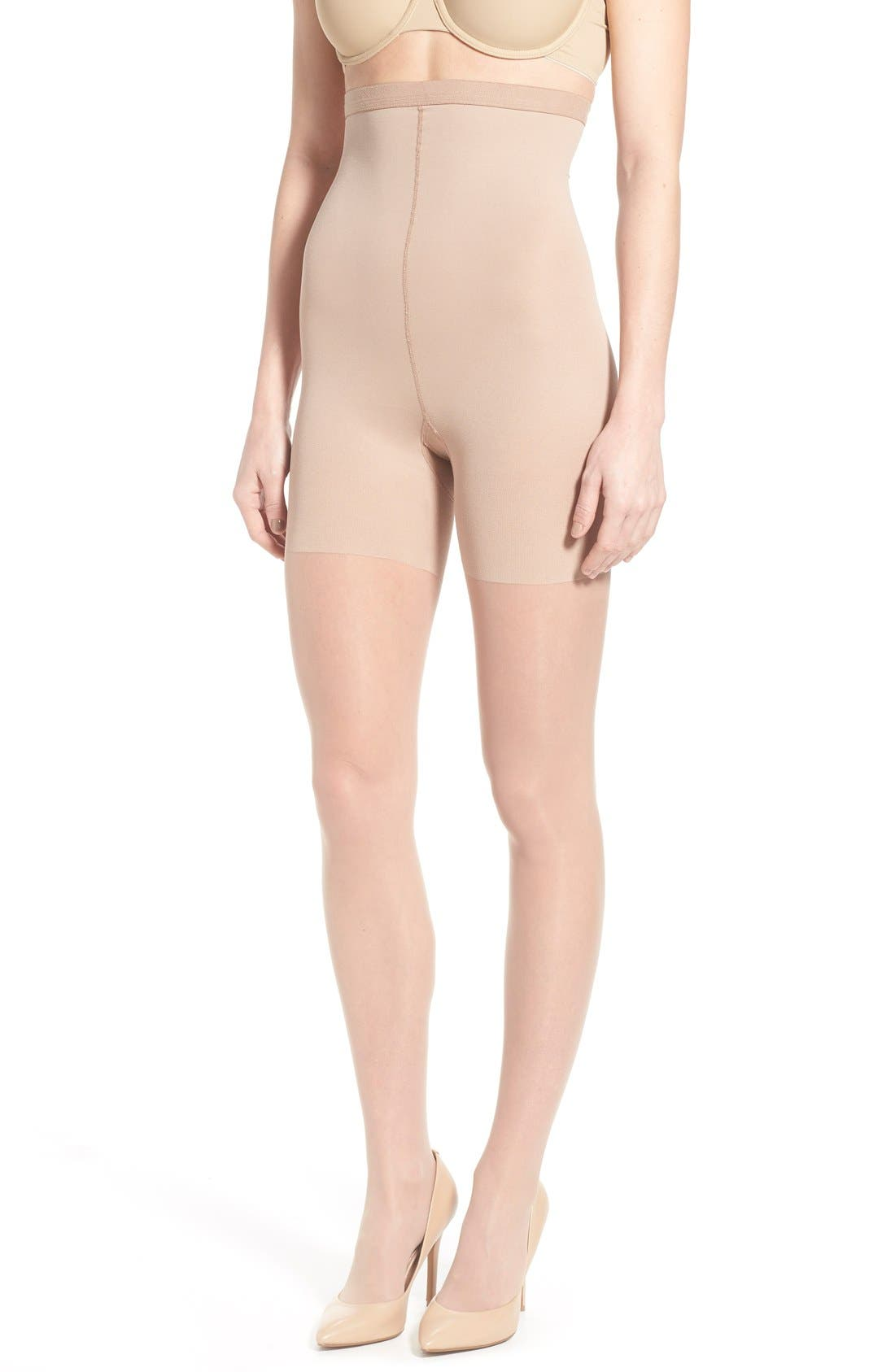 Luxe High Waist Shaping Pantyhose,                             Main thumbnail 1, color,                             250