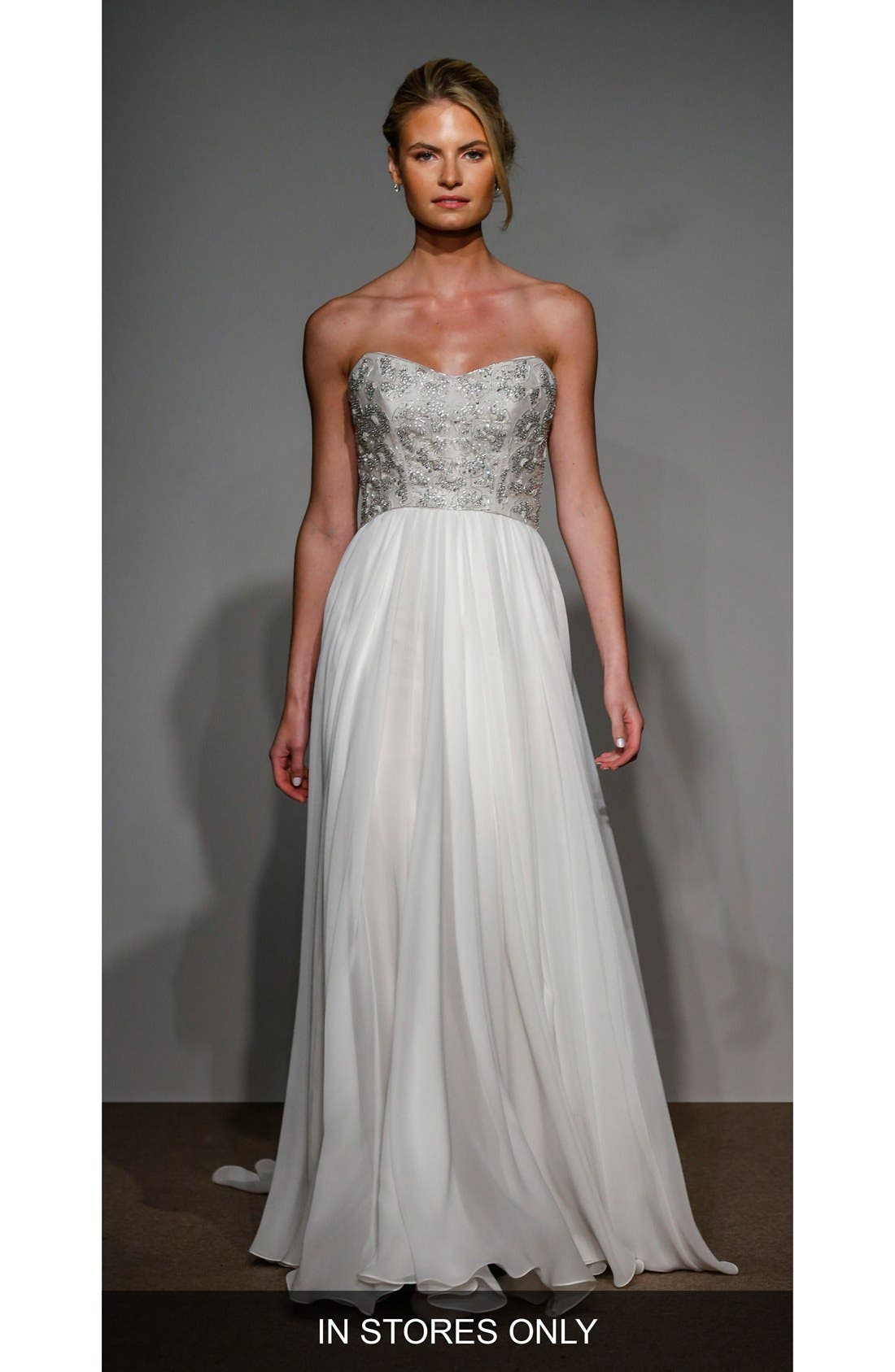Capuchine Strapless Silk Gown,                         Main,                         color, 900