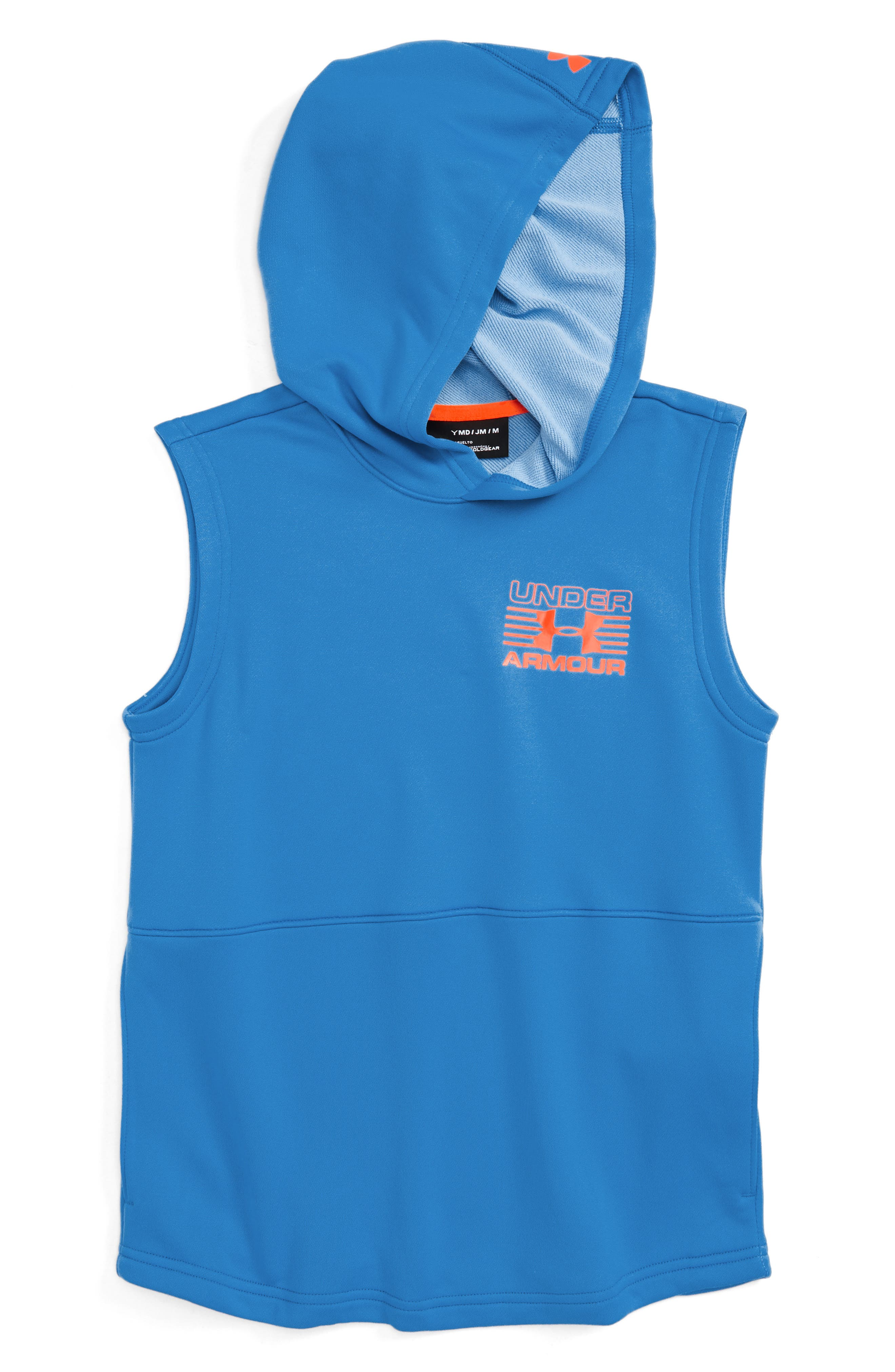 Train to Game Sleeveless ColdGear<sup>®</sup> Hoodie,                             Alternate thumbnail 4, color,