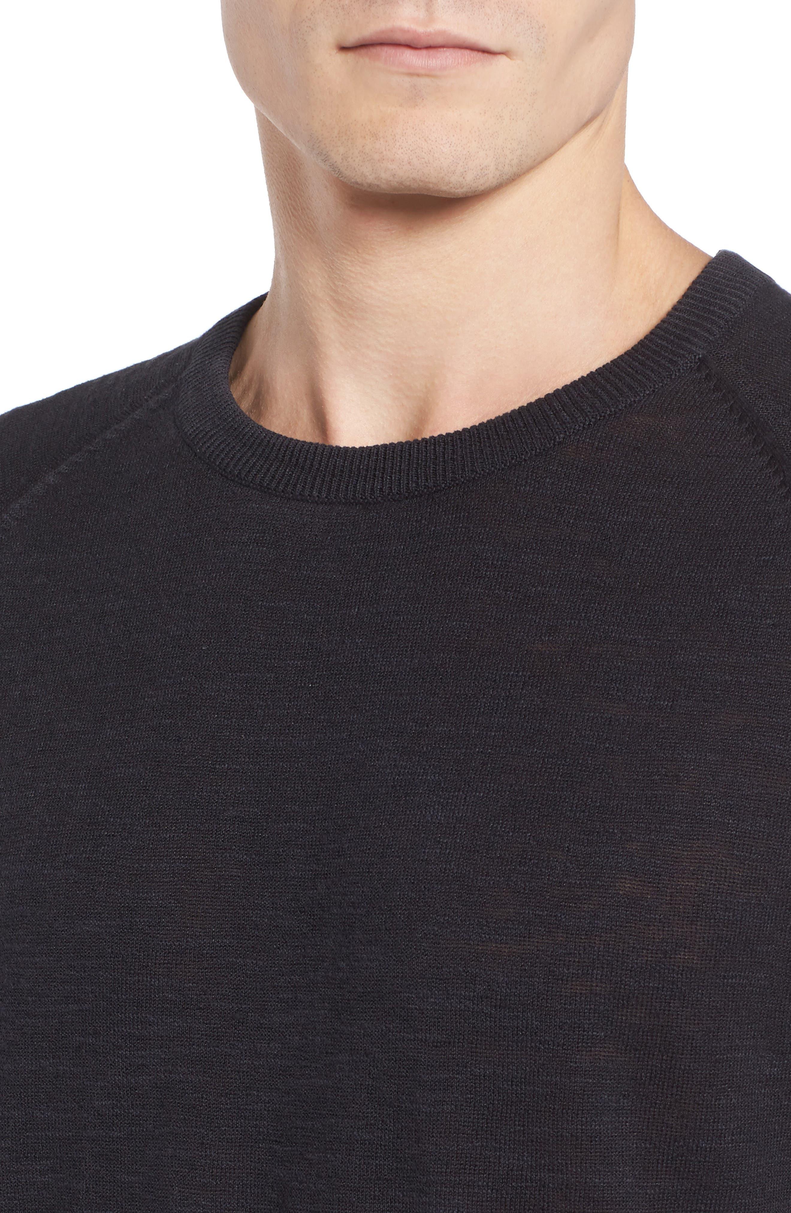 Arambol Cotton & Linen Sweater,                             Alternate thumbnail 4, color,                             409