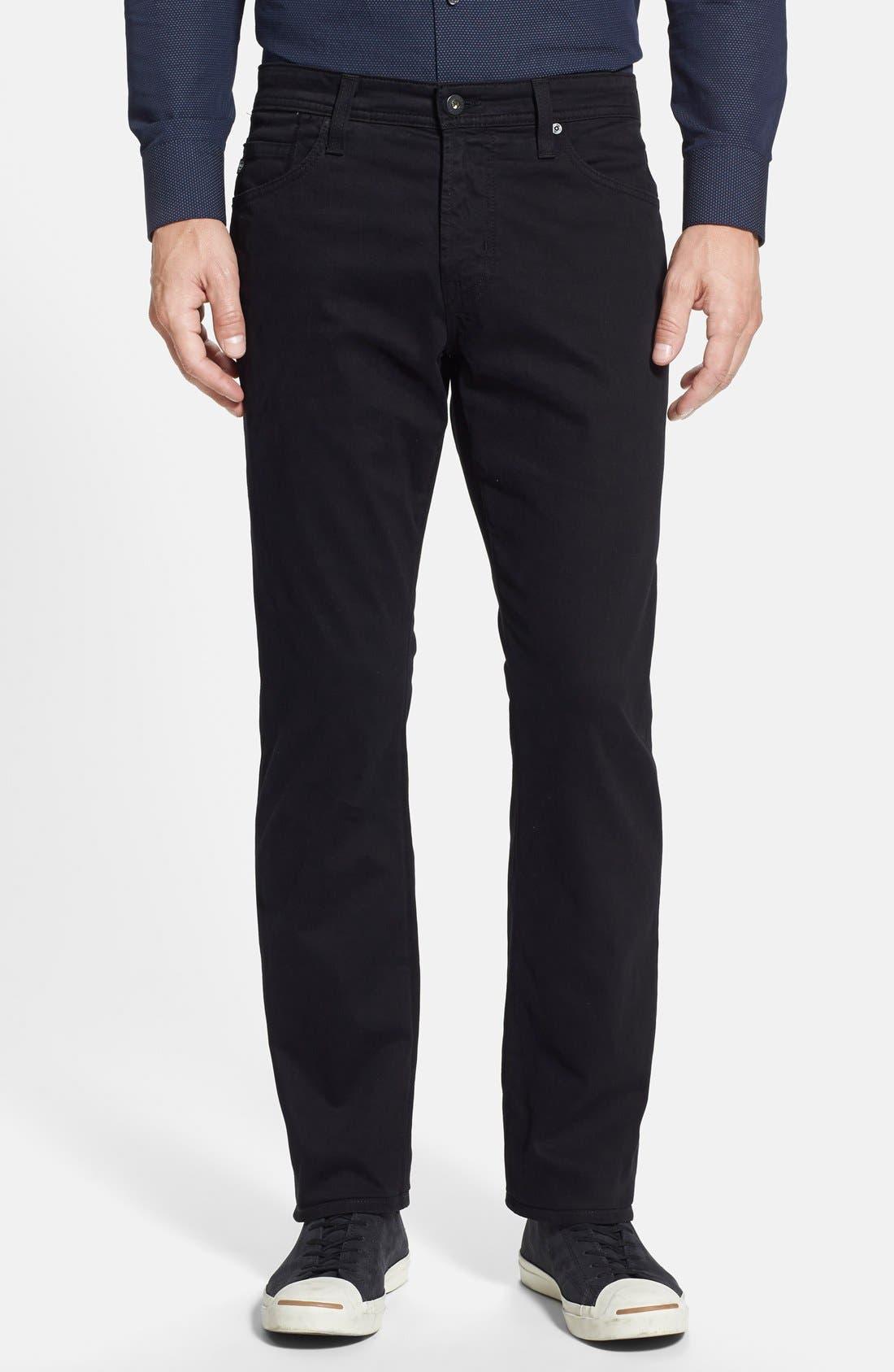 Graduate SUD Slim Straight Leg Pants,                             Main thumbnail 1, color,                             BLACK