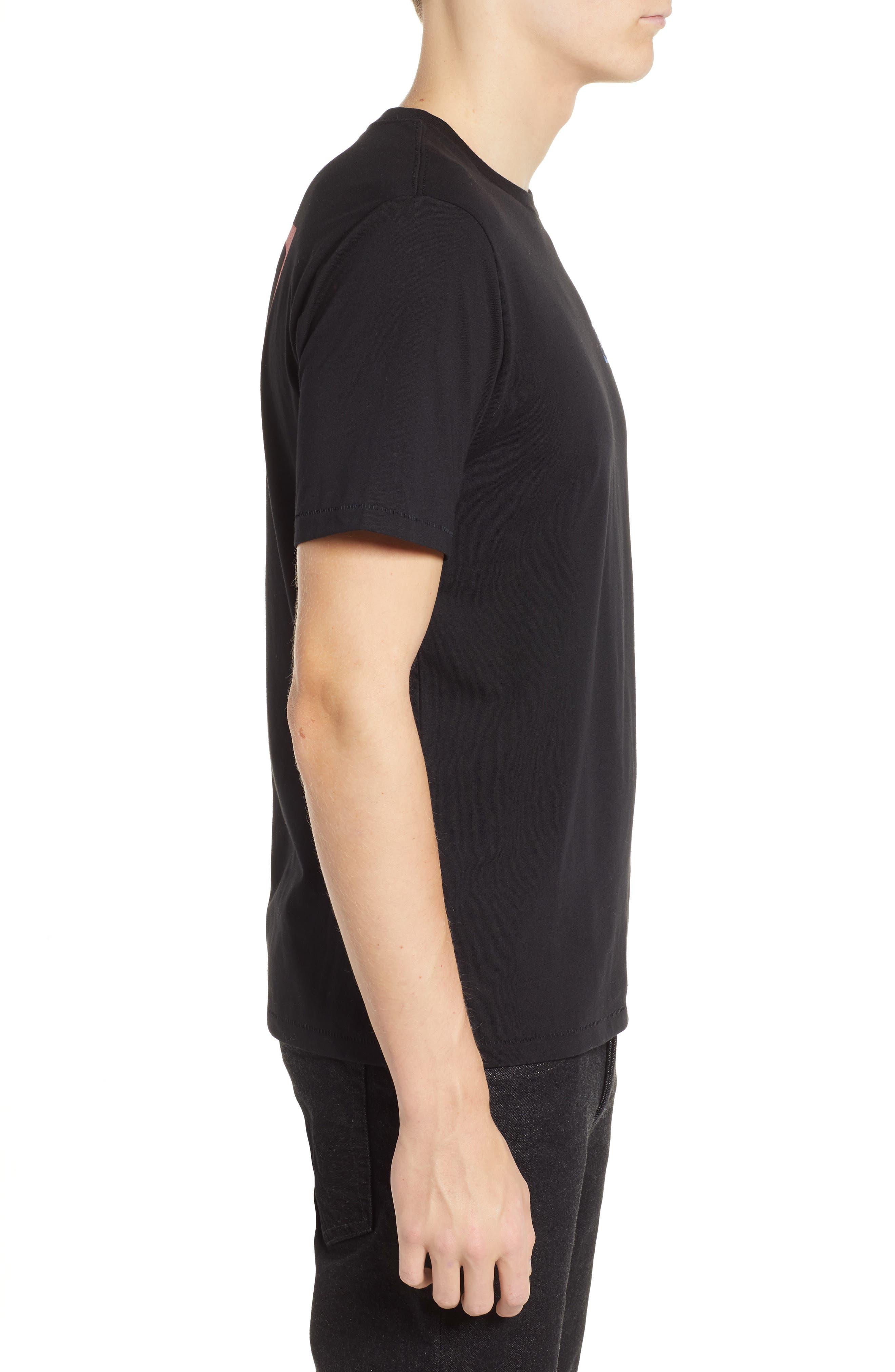 Dozer Logo T-Shirt,                             Alternate thumbnail 3, color,                             BLACK