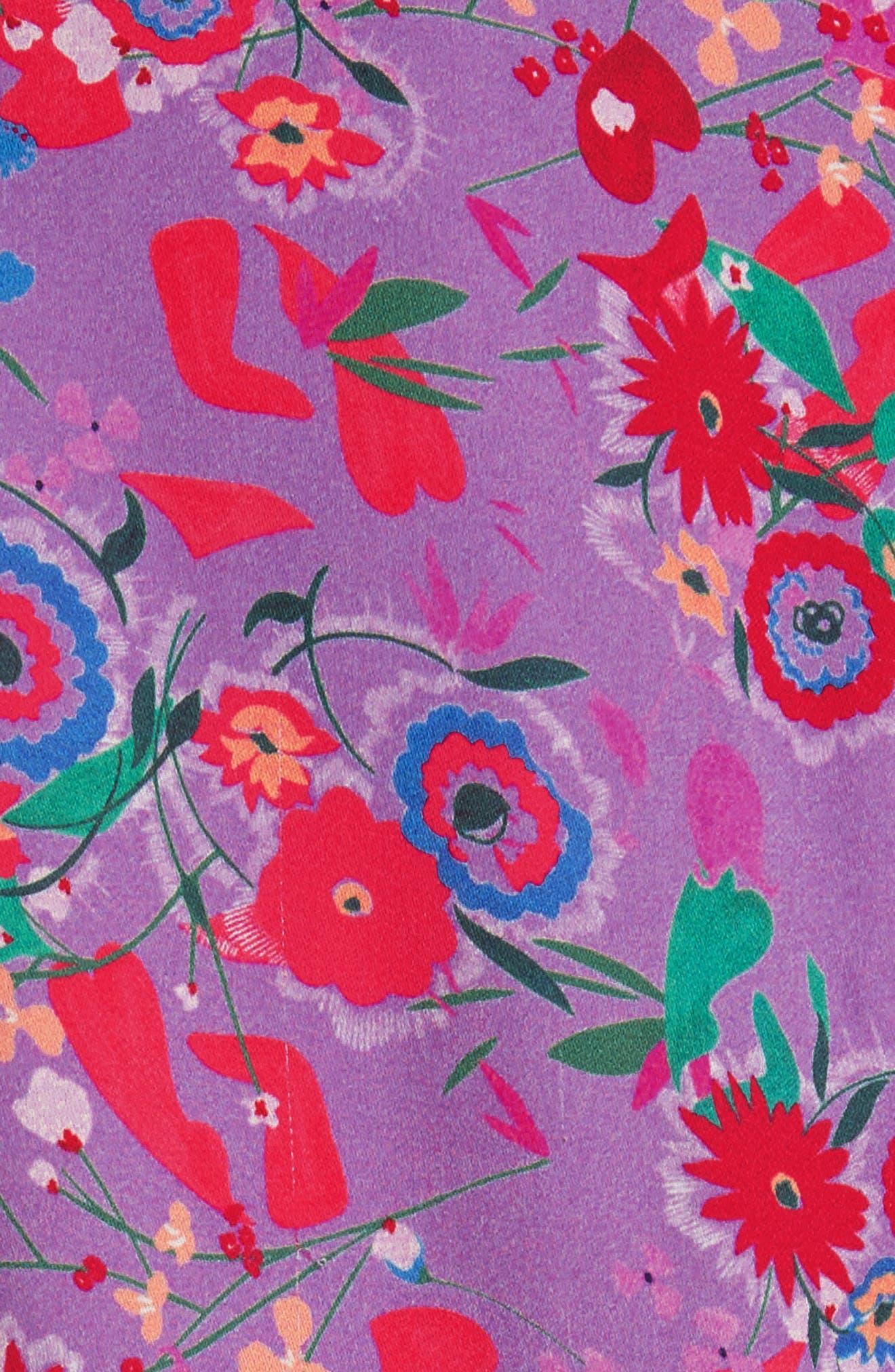 Eve Floral Print Dress,                             Alternate thumbnail 6, color,                             531