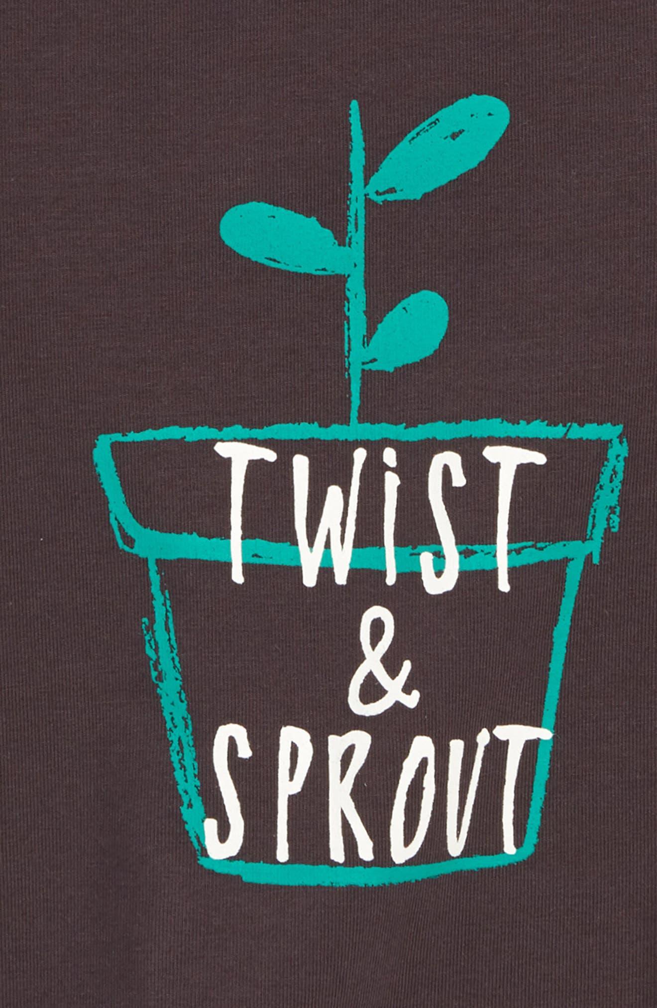 Twist & Sprout Graphic T-Shirt,                             Alternate thumbnail 2, color,                             021