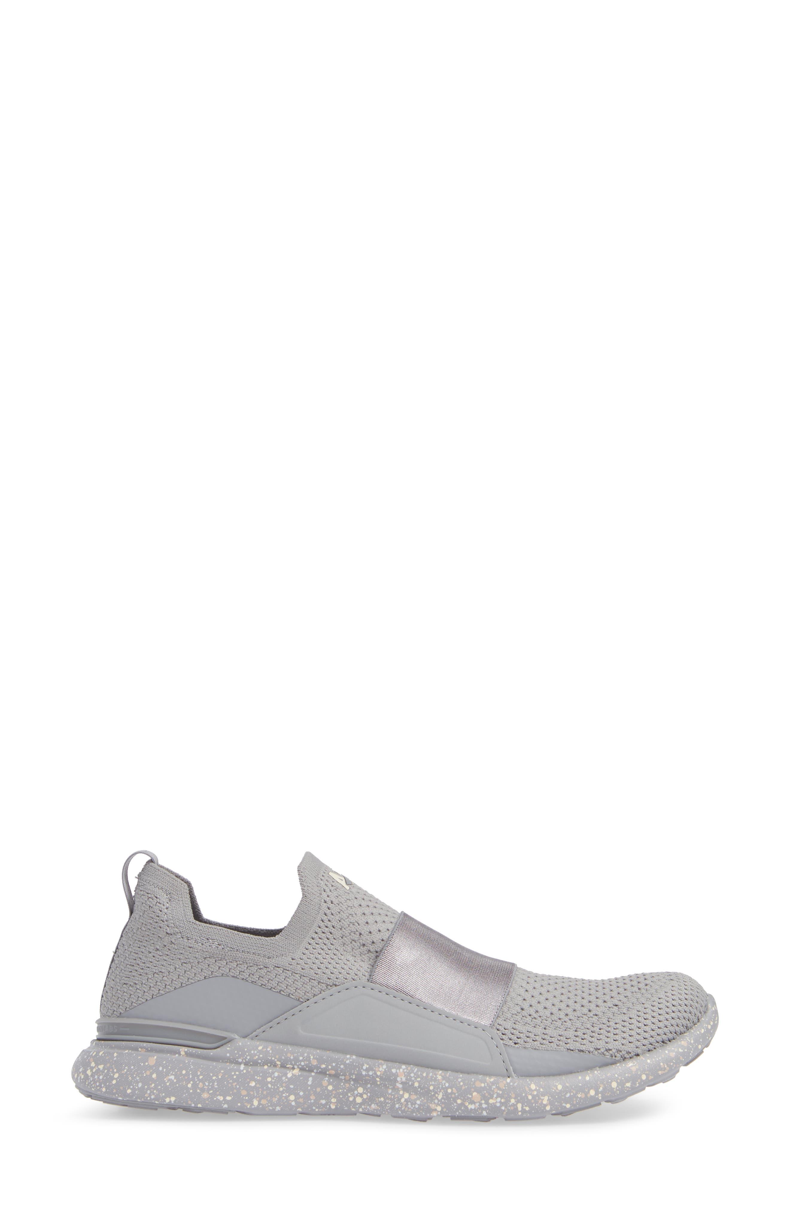 APL,                             Techloom Bliss Knit Running Shoe,                             Alternate thumbnail 3, color,                             CEMENT/ SEA SALT/ CREAM