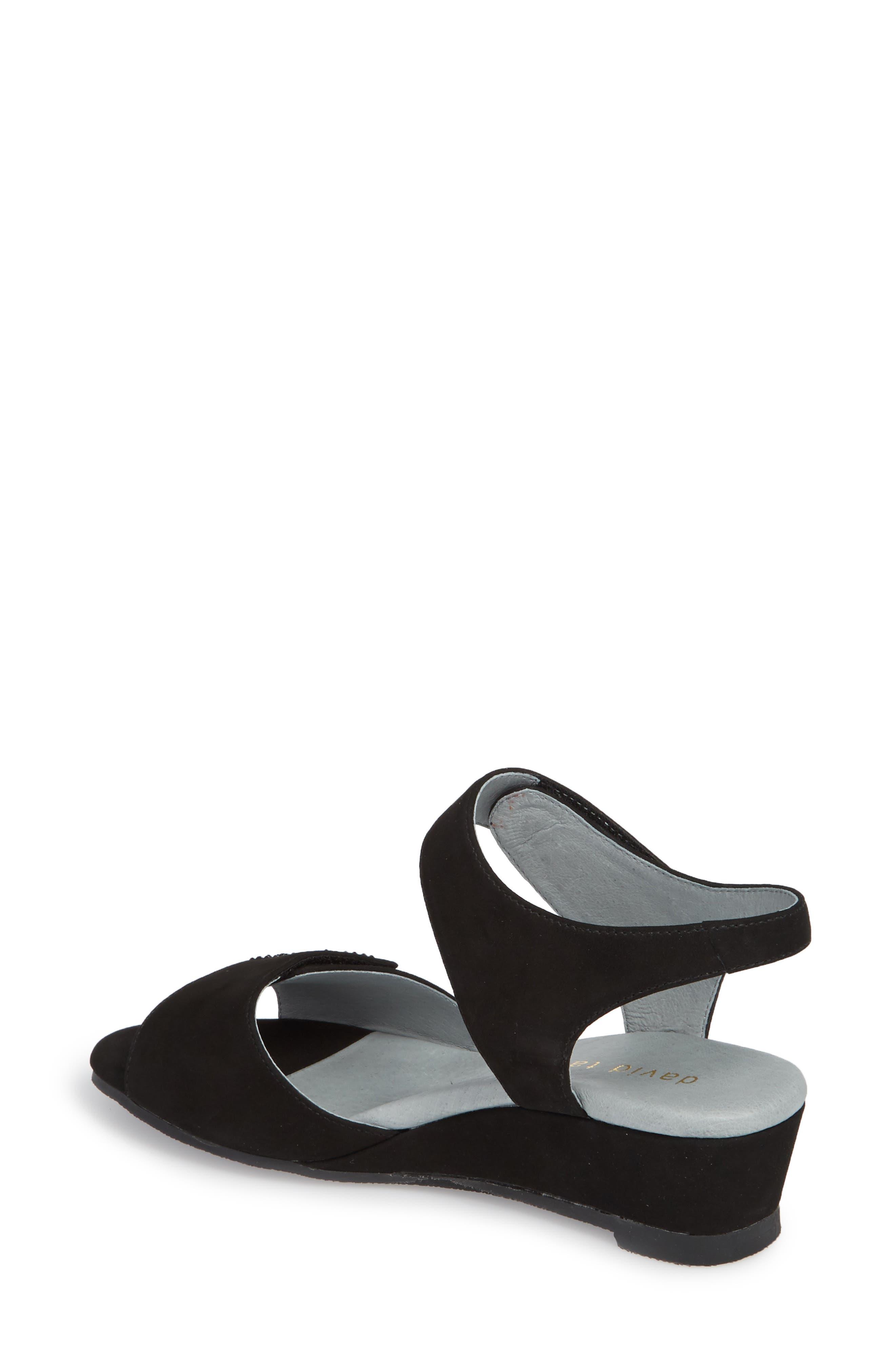 Queen Embellished Wedge Sandal,                             Alternate thumbnail 2, color,                             BLACK NUBUCK