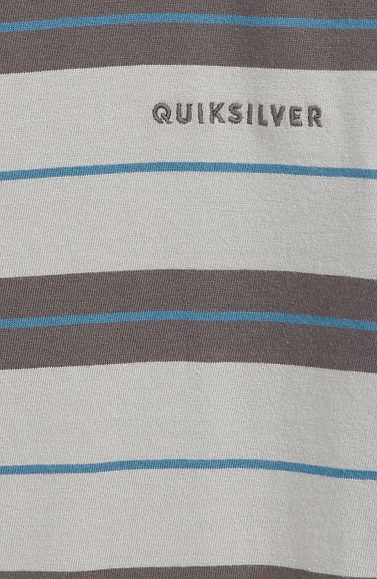 Dera Steps Stripe T-Shirt,                             Alternate thumbnail 2, color,                             IRON GATE