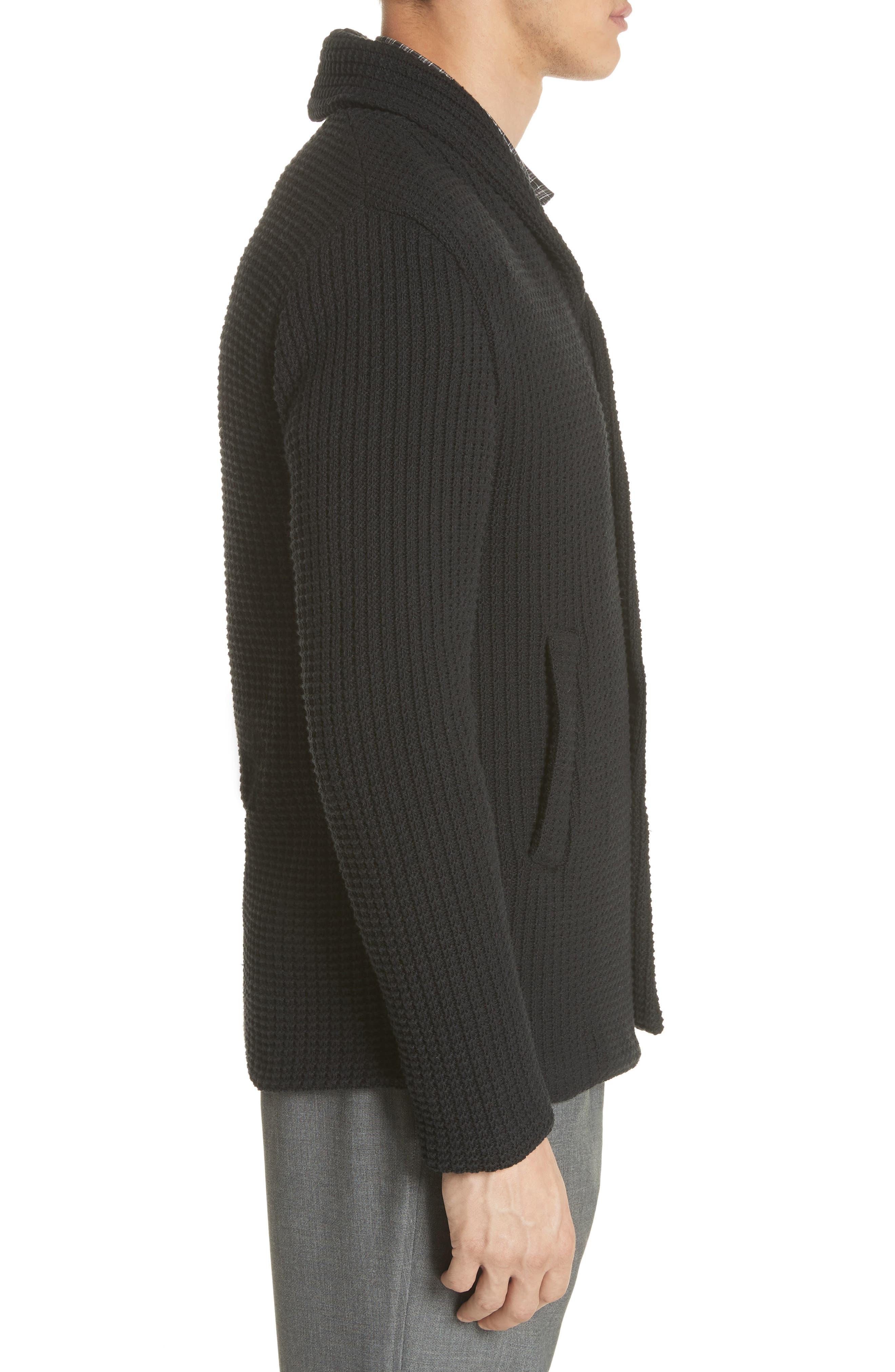 Barena Venzia Lione Badoer Knit Jacket,                             Alternate thumbnail 3, color,                             001