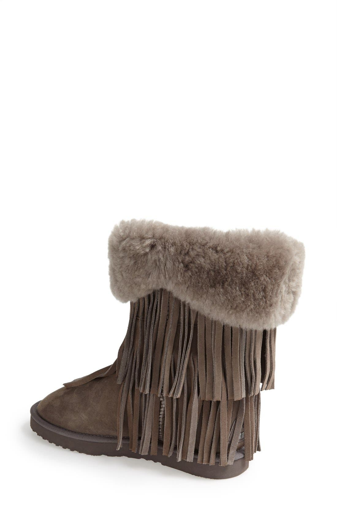 'Haley II' Genuine Shearling Short Boot,                             Alternate thumbnail 4, color,                             020