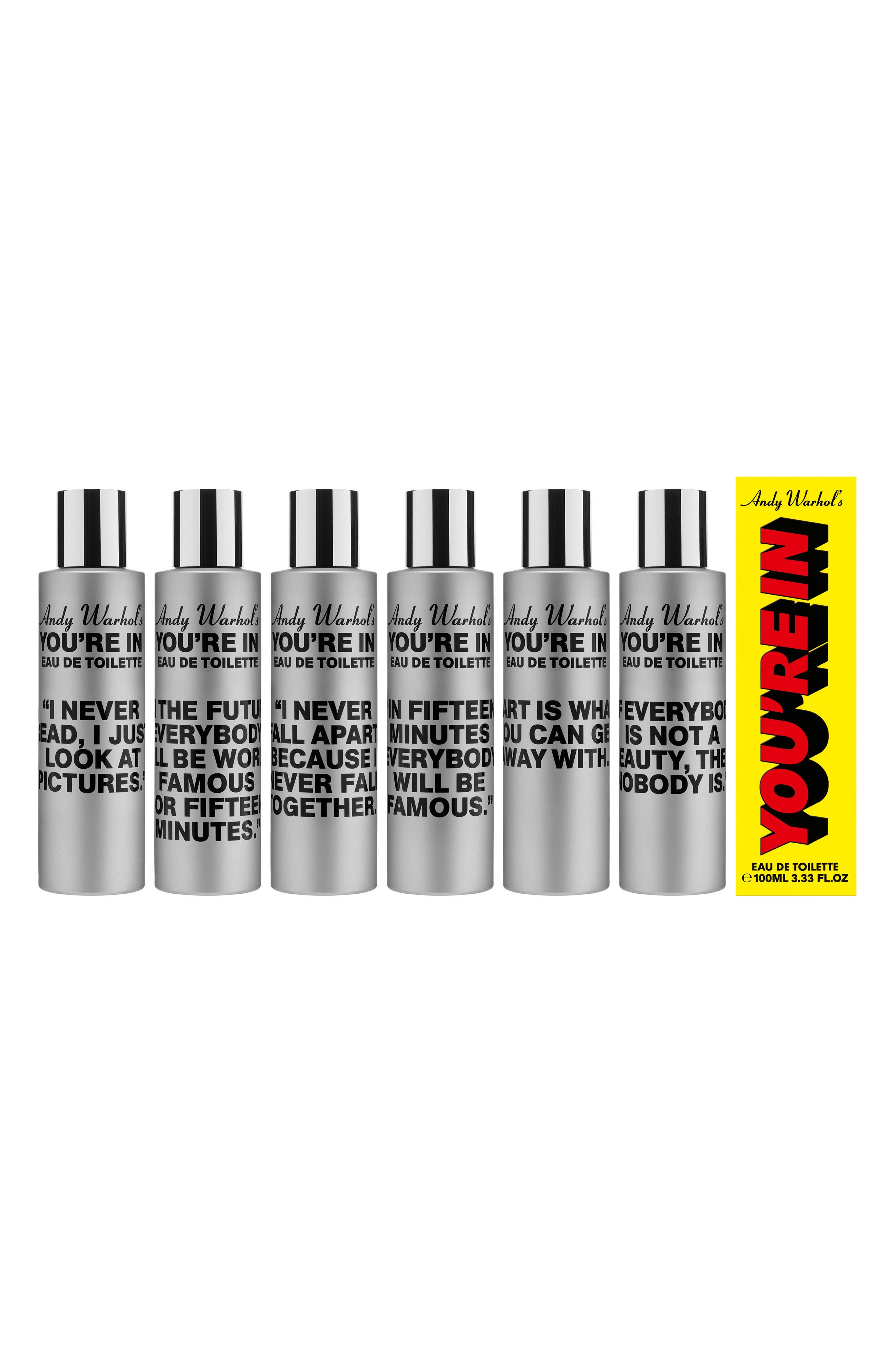 Andy Warhol You're In Unisex Eau de Toilette,                             Alternate thumbnail 8, color,                             IF EVERYBODY IS