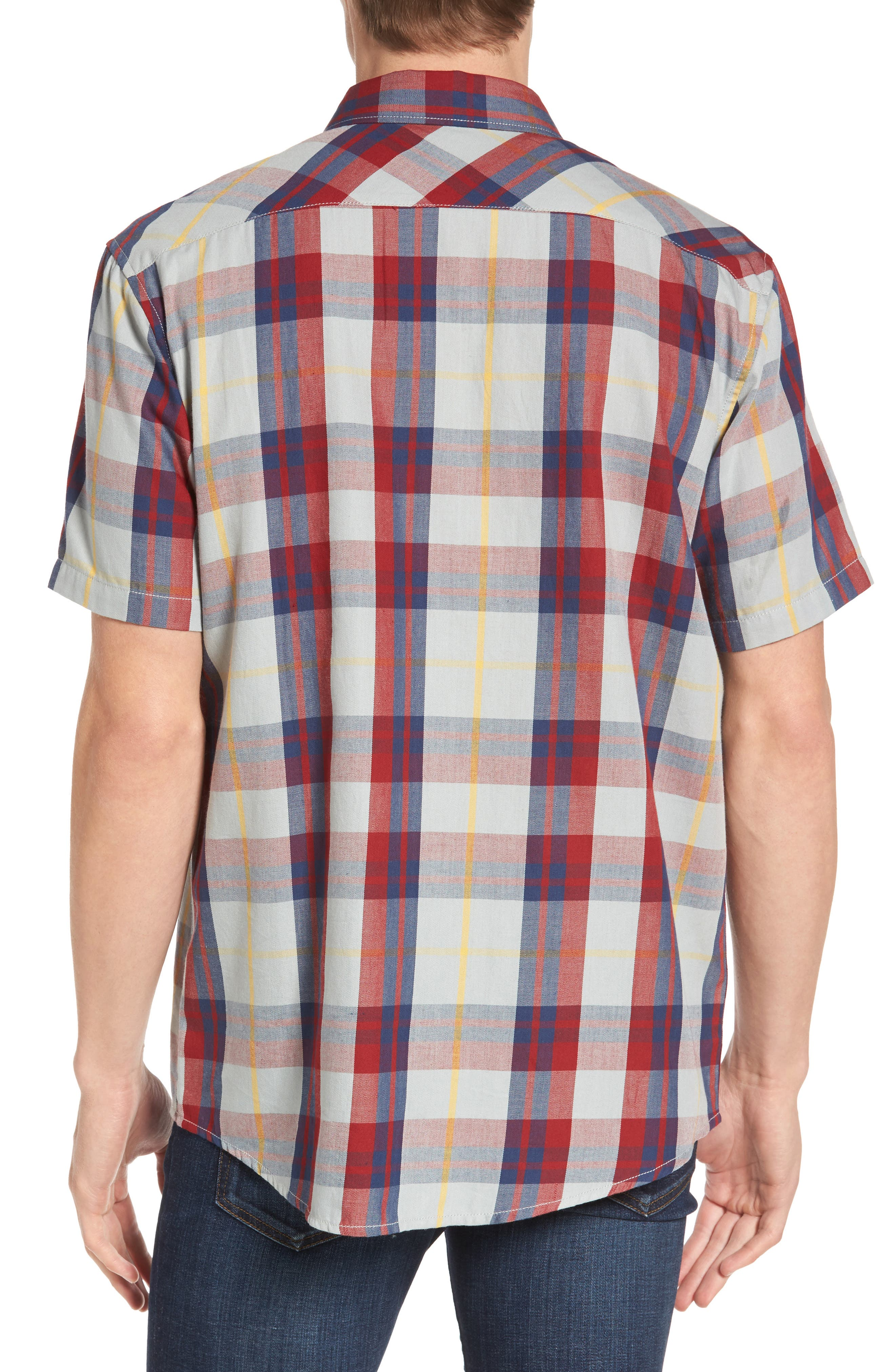 Waas 2 Plaid Woven Shirt,                             Alternate thumbnail 3, color,
