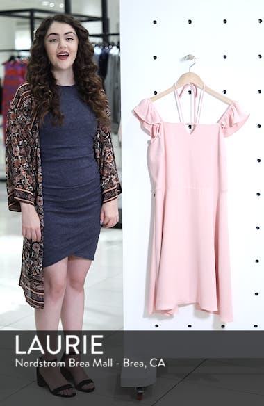 Flutter Sleeve Halter Neck Dress, sales video thumbnail