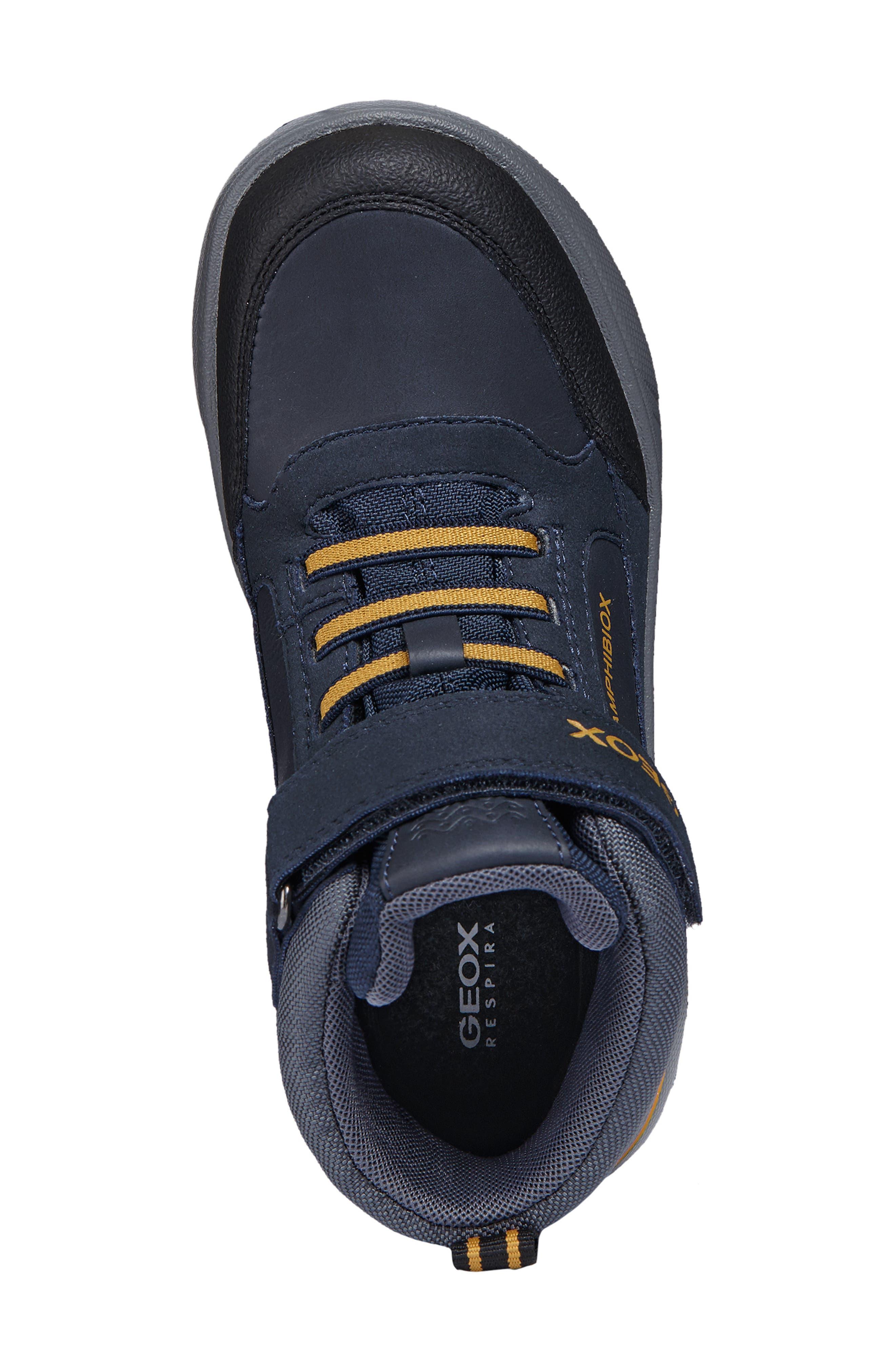 Sveggen ABX Waterproof Sneaker,                             Alternate thumbnail 5, color,                             NAVY/YELLOW