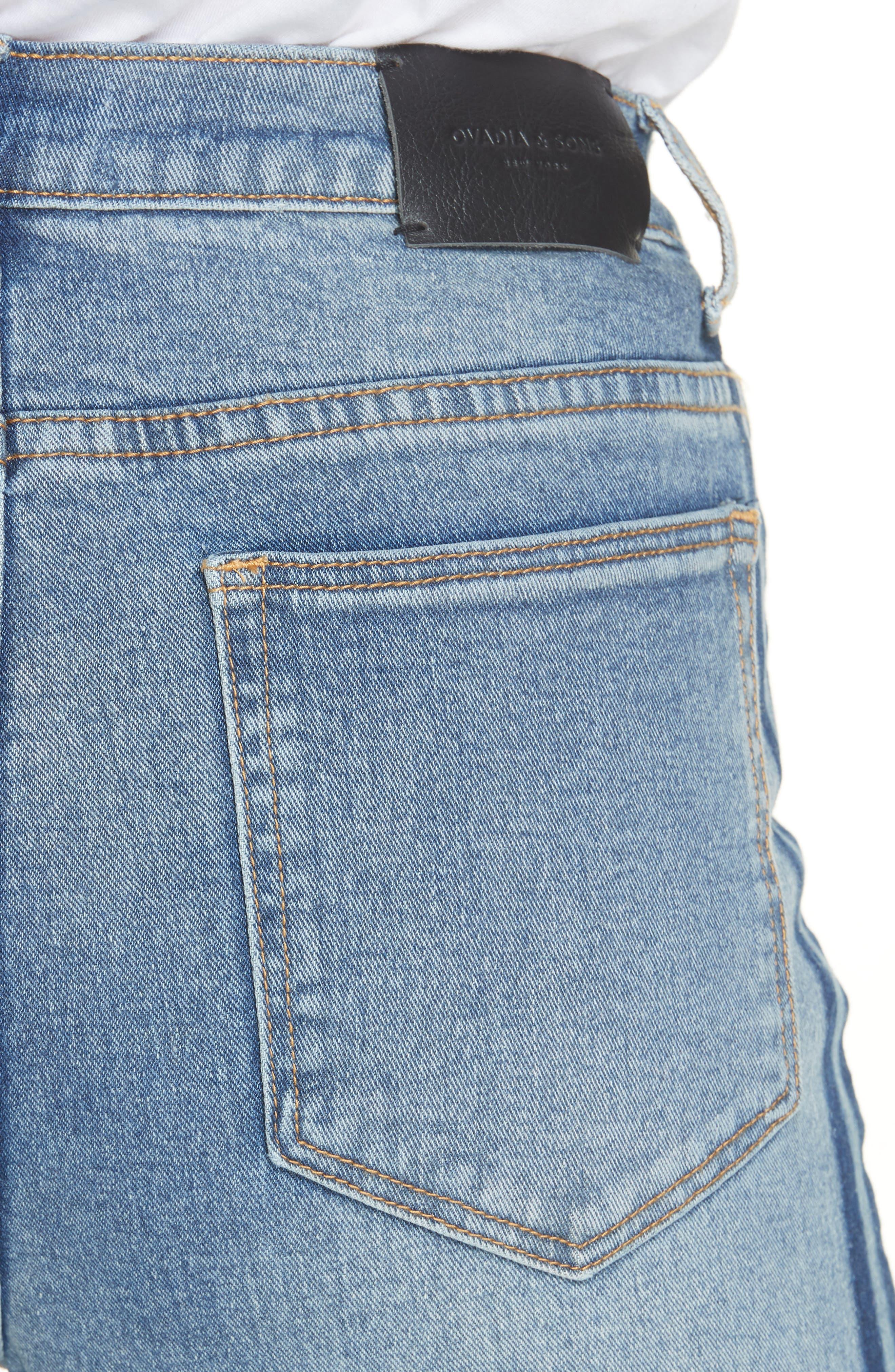 OVADIA & SONS,                             OS-1 Slim Fit Jeans,                             Alternate thumbnail 5, color,                             INDIGO