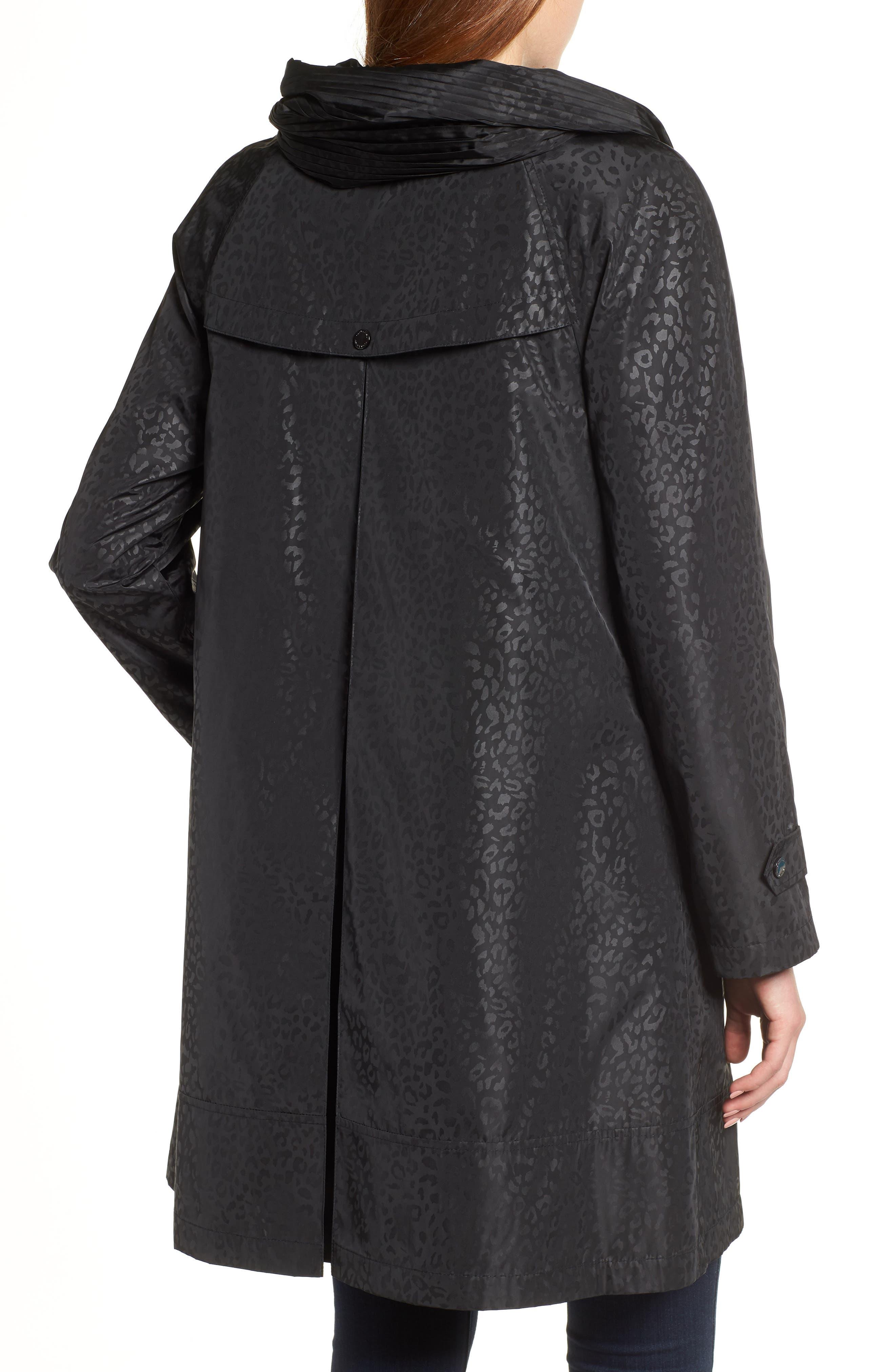 GALLERY,                             Pleated Collar Raincoat,                             Alternate thumbnail 2, color,                             200