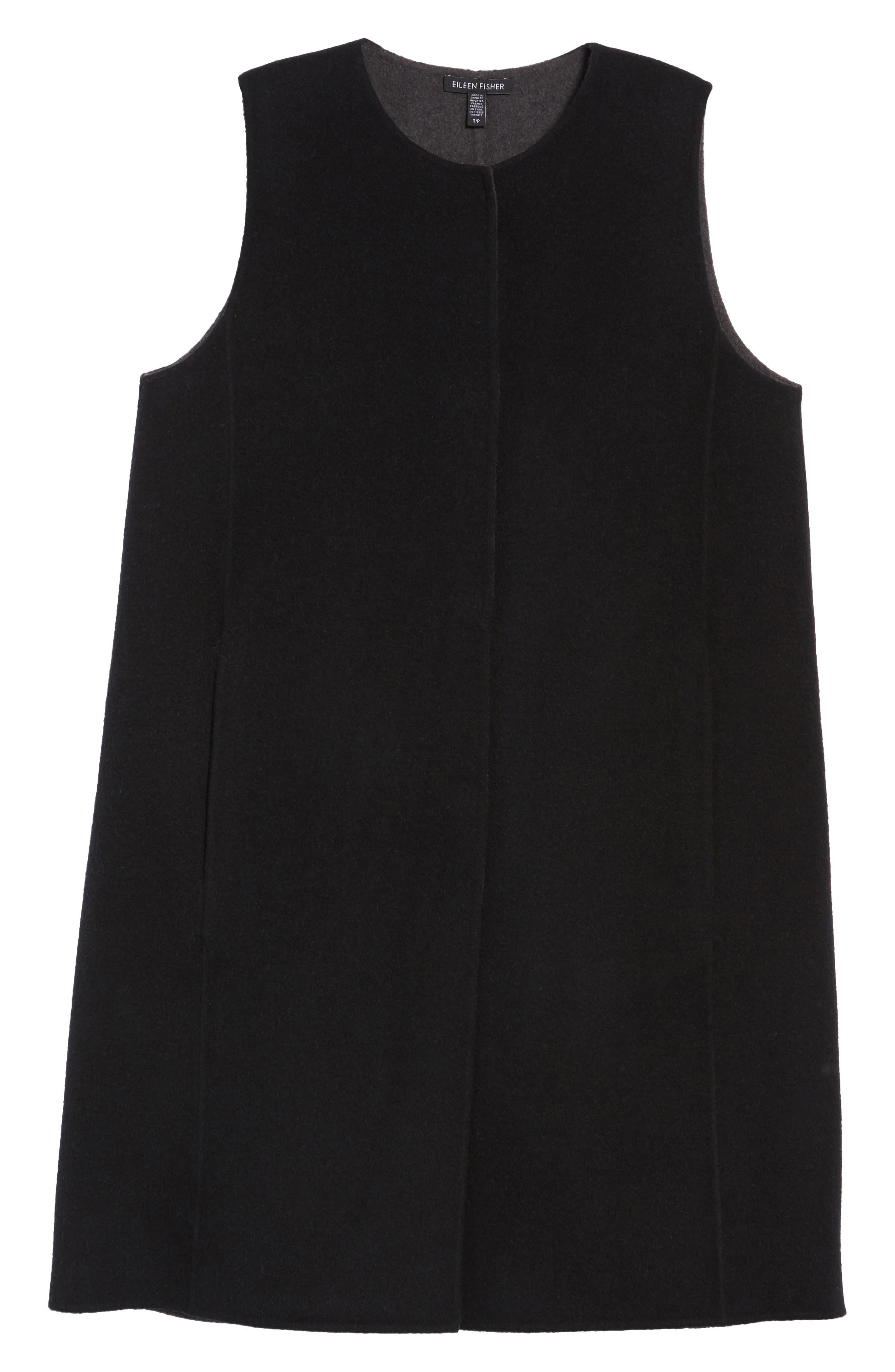 Long Wool Blend Vest,                             Alternate thumbnail 5, color,                             010