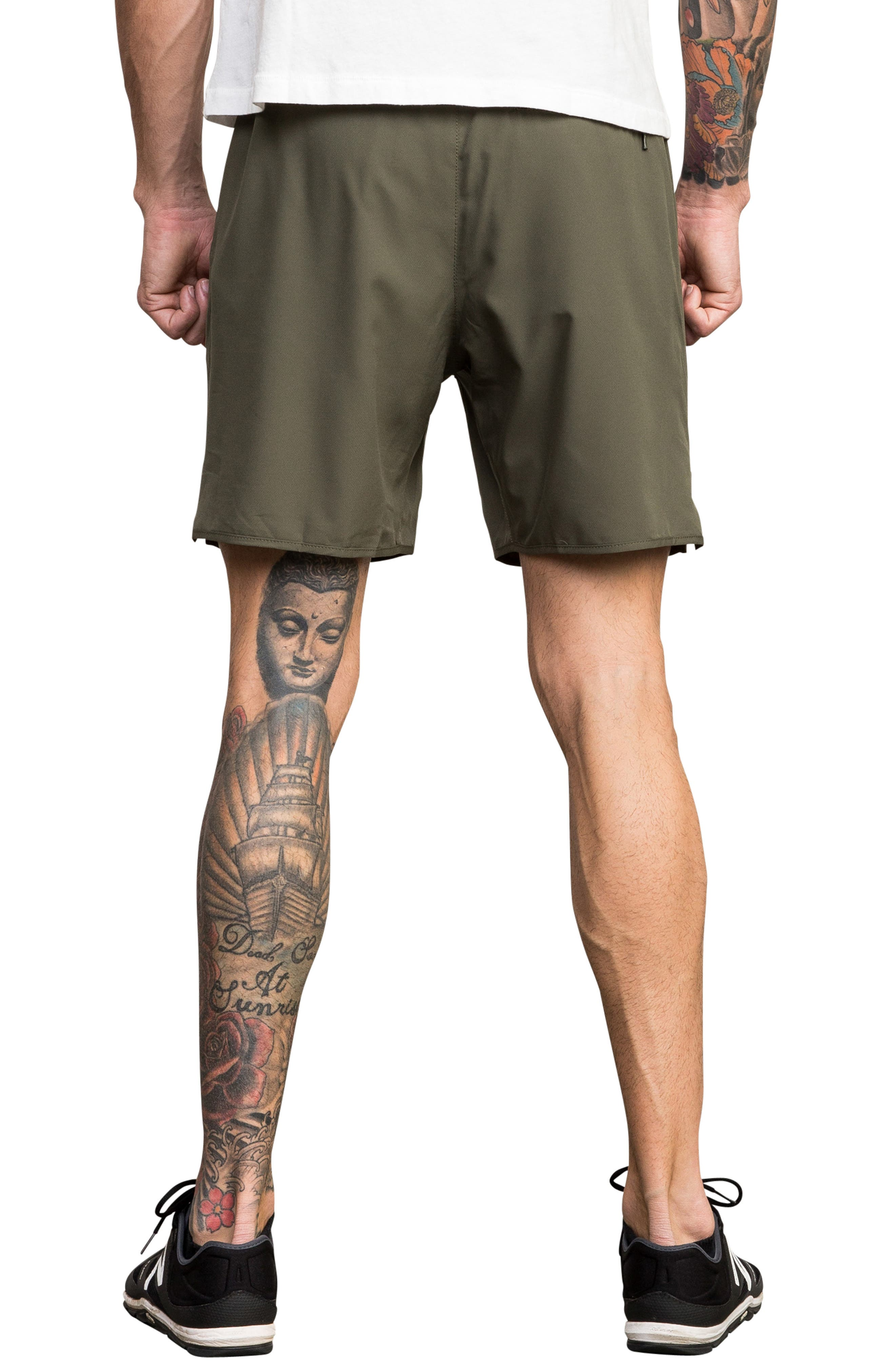Yogger III Athletic Shorts,                             Alternate thumbnail 2, color,                             OLIVE