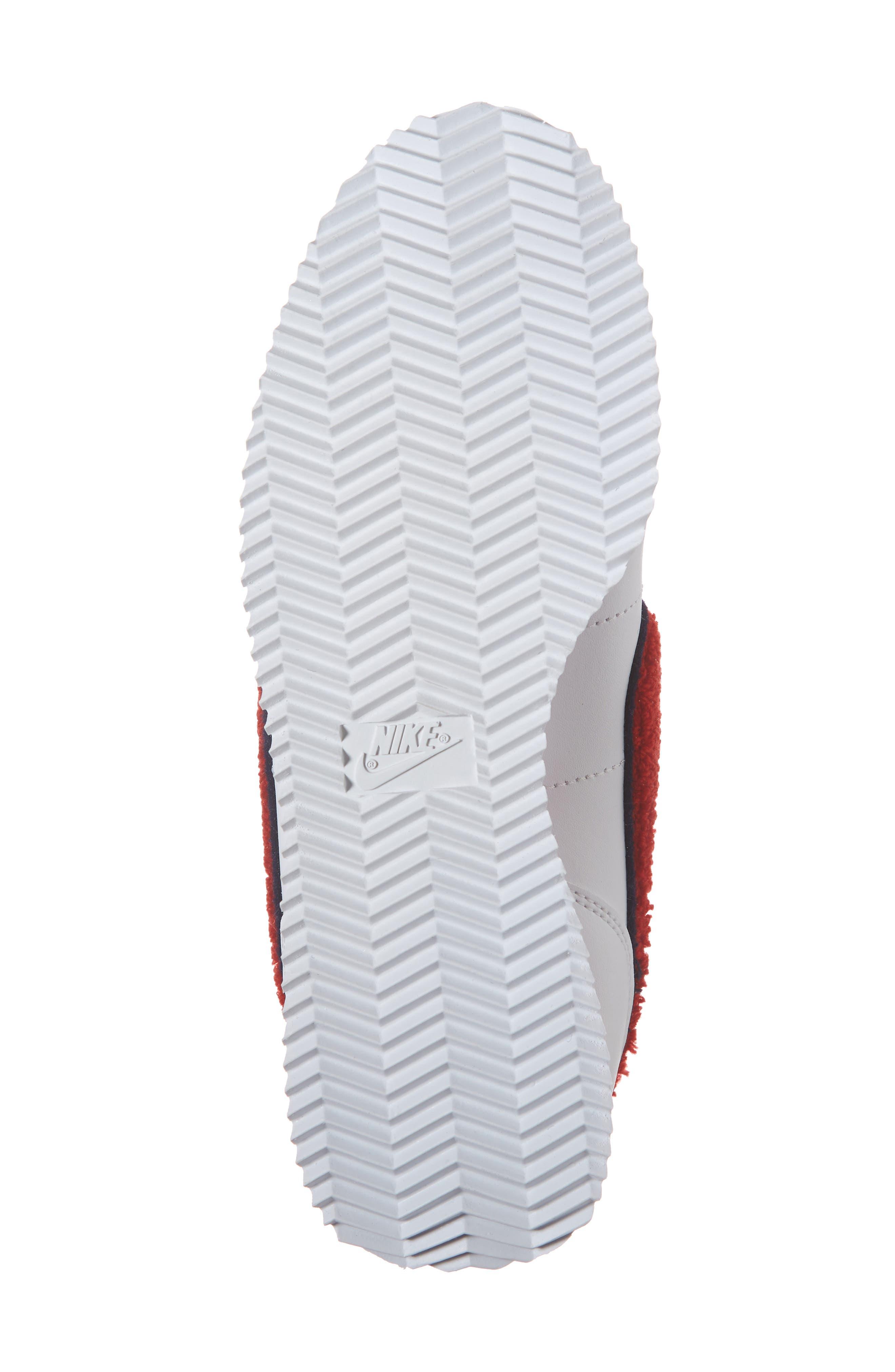 Cortez Basic SE Sneaker,                             Alternate thumbnail 6, color,                             WHITE/ UNIVERSITY RED/ BLUE