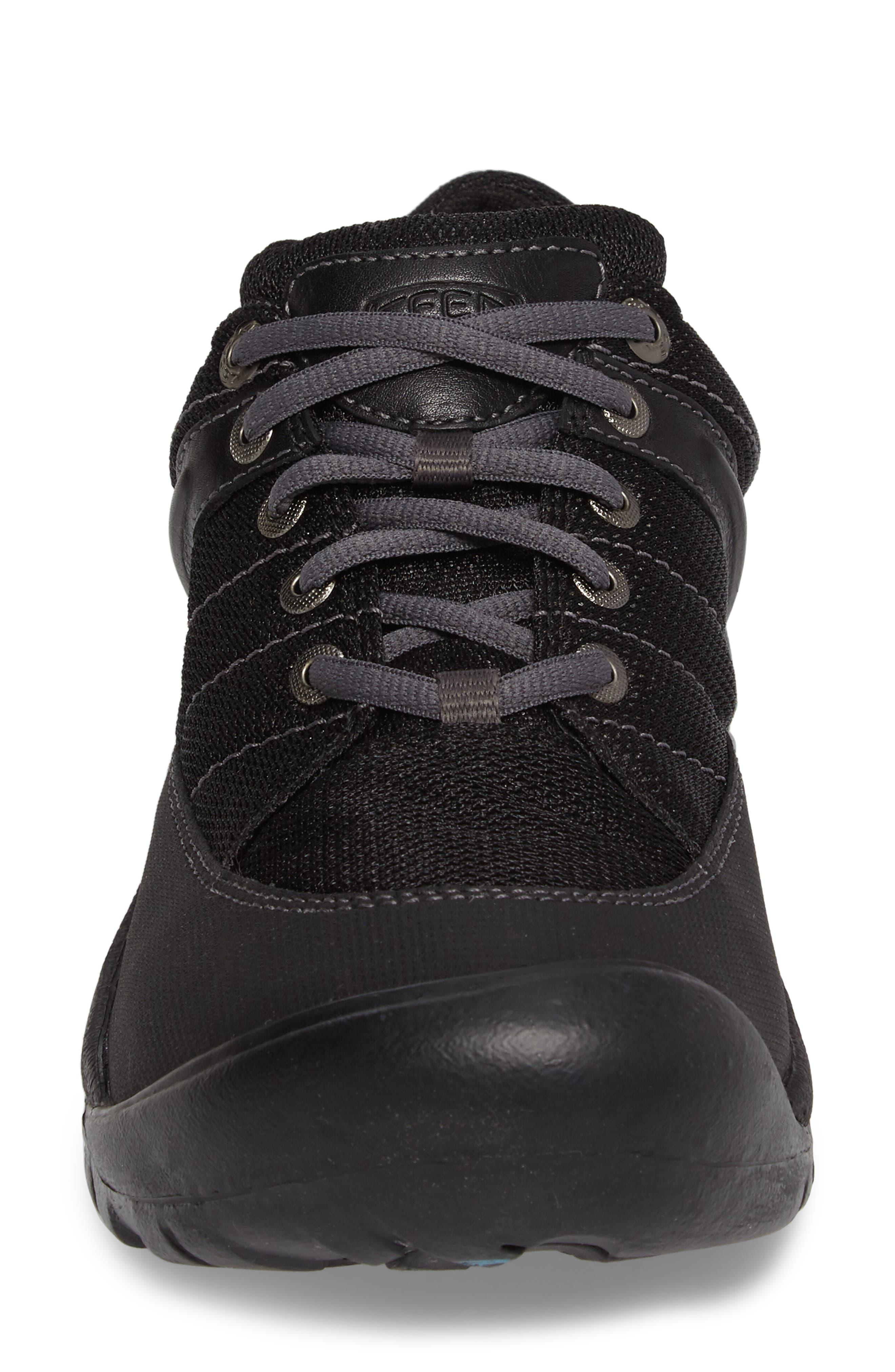 Presidio Waterproof Sport Sneaker,                             Alternate thumbnail 4, color,                             BLACK LEATHER