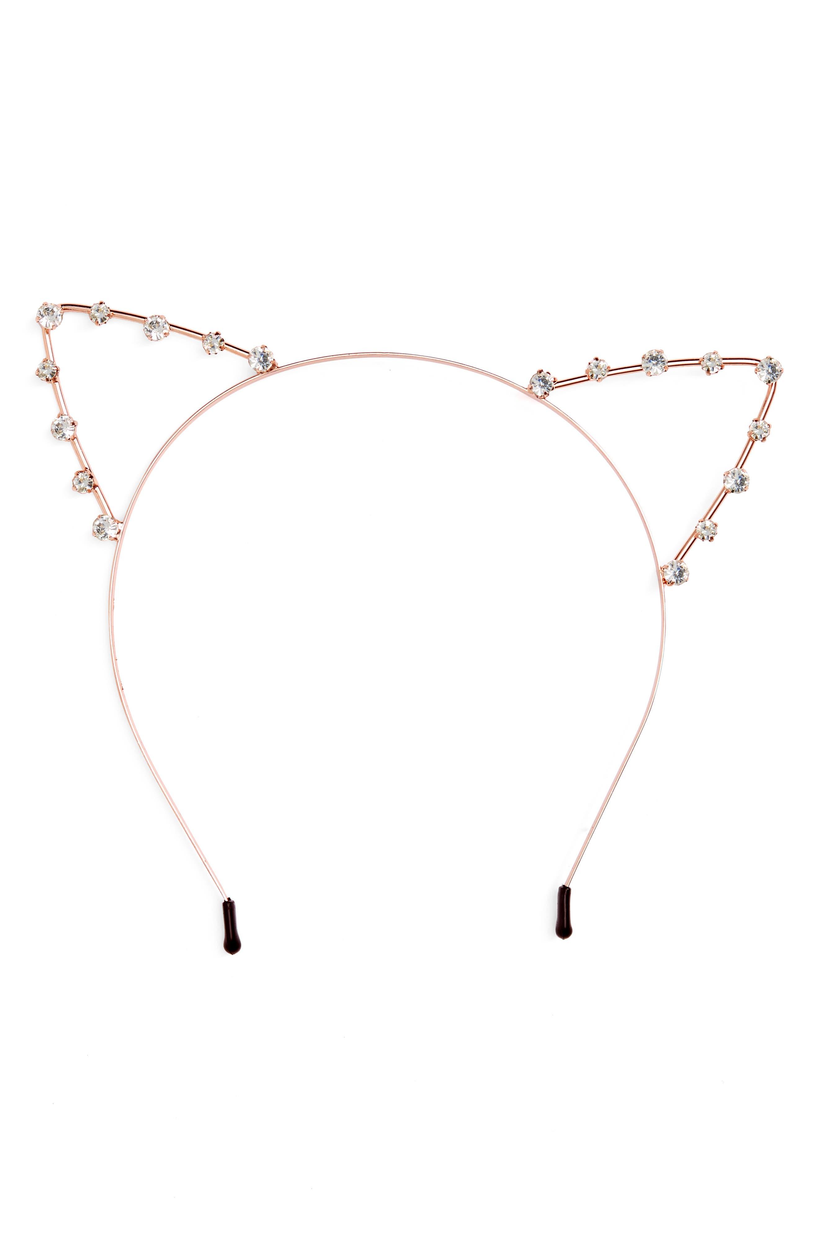 Crystal Cat Ears Headband,                             Main thumbnail 1, color,                             711