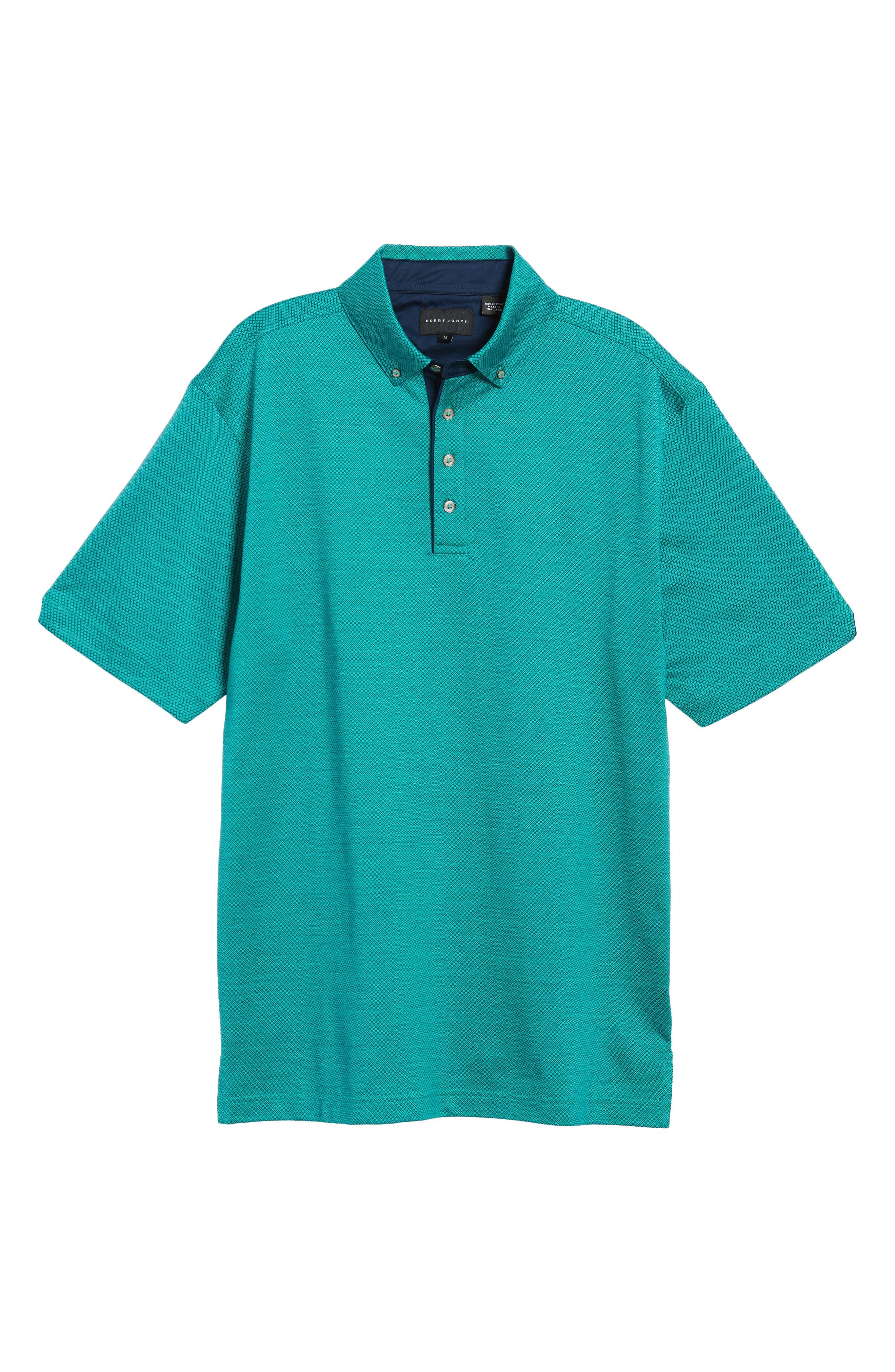 Mercerized Cotton Jacquard Polo,                             Alternate thumbnail 21, color,