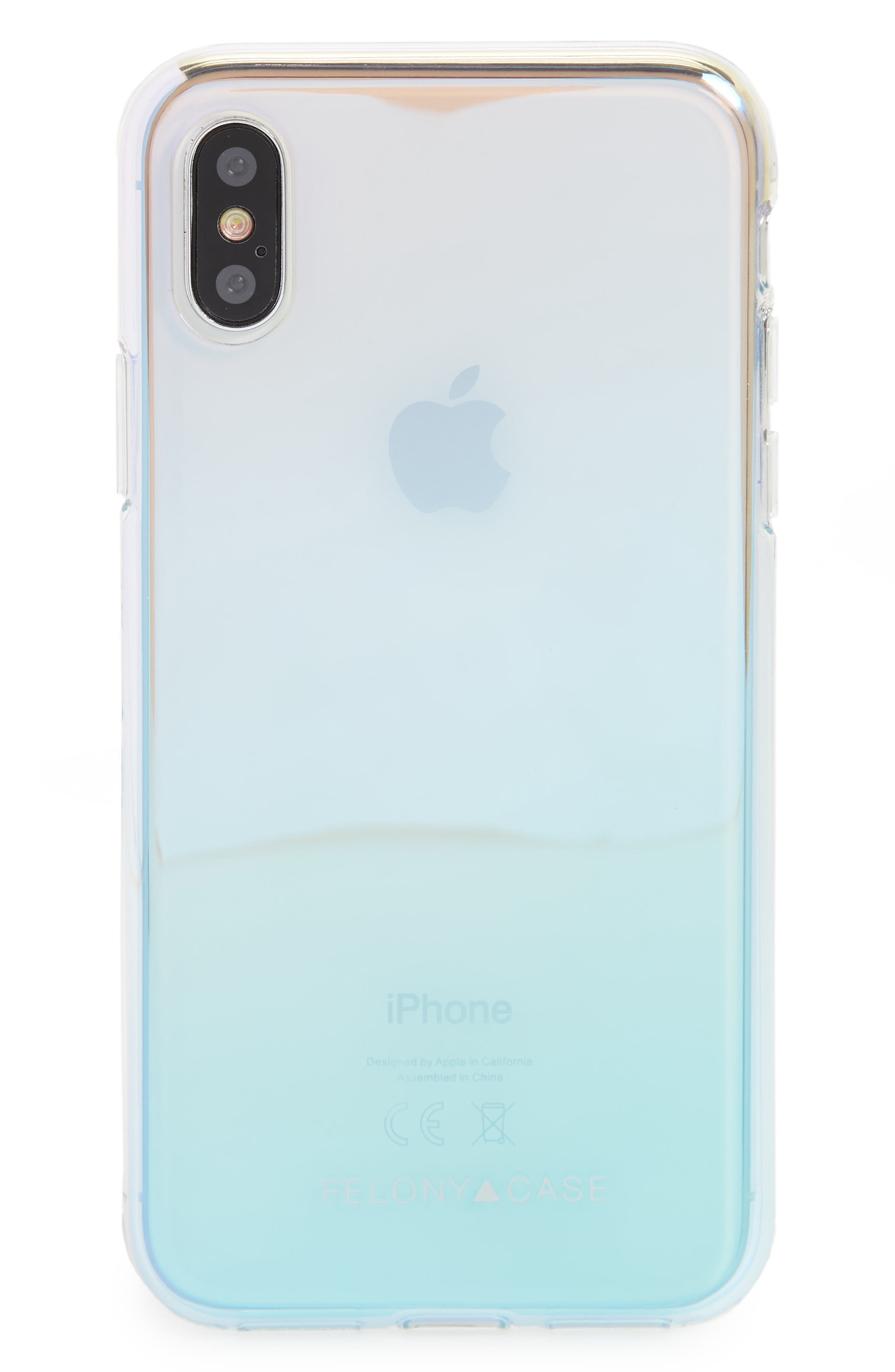 Holographic iPhone X Case,                         Main,                         color, 040