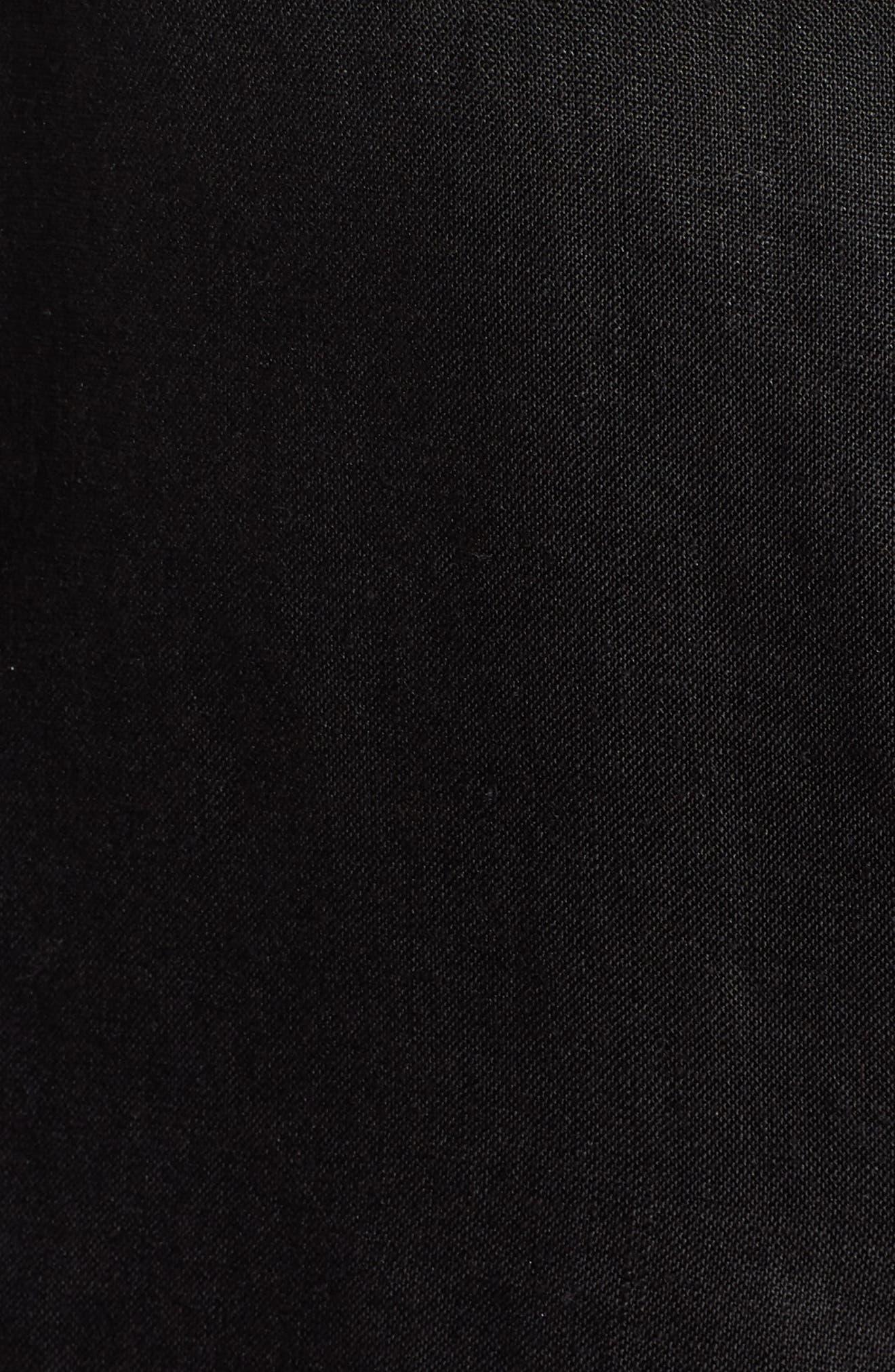 Organic Linen Blazer,                             Alternate thumbnail 7, color,                             001
