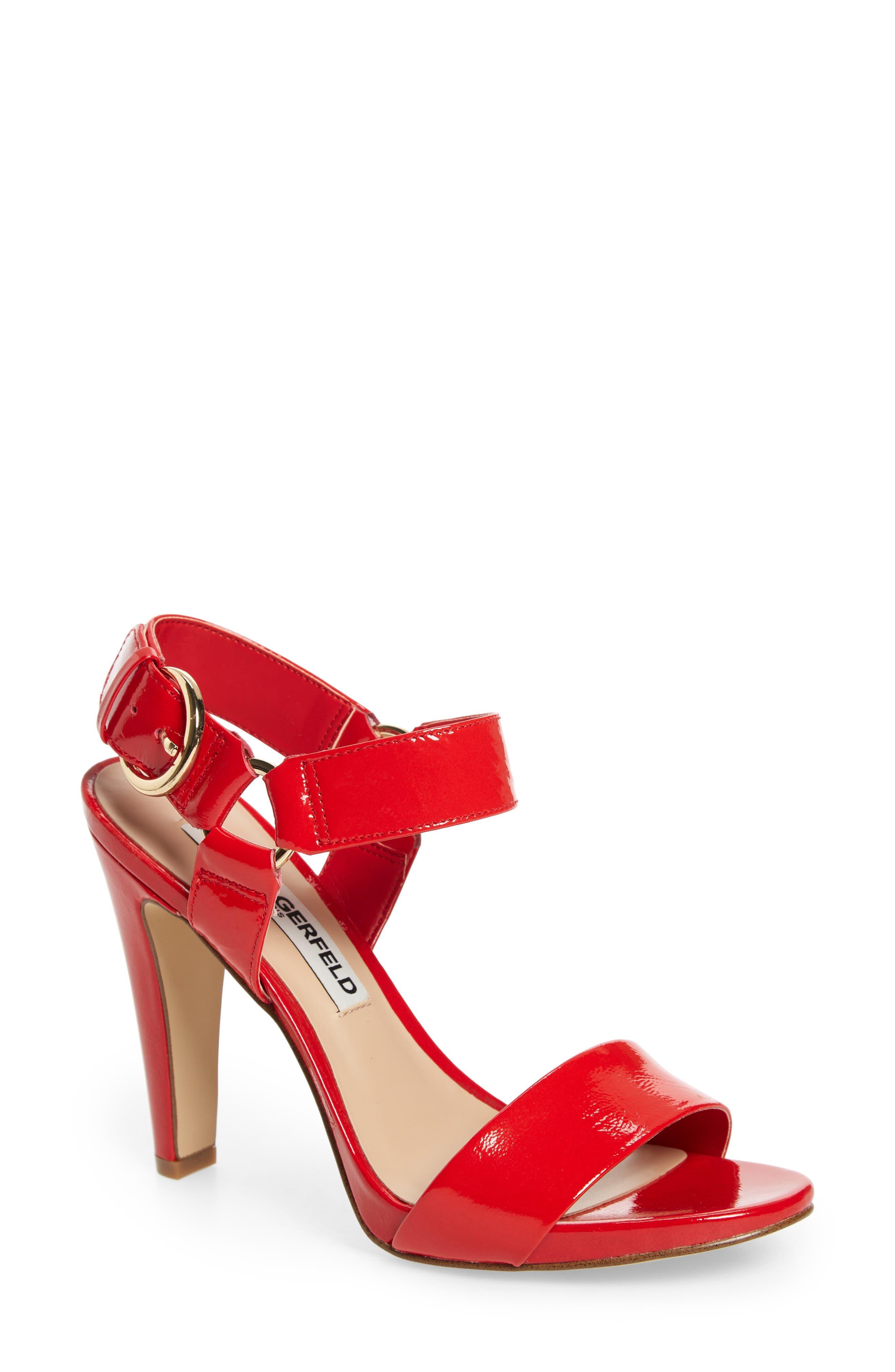 Karl Lagerfeld Paris Cieone Sandal, Red