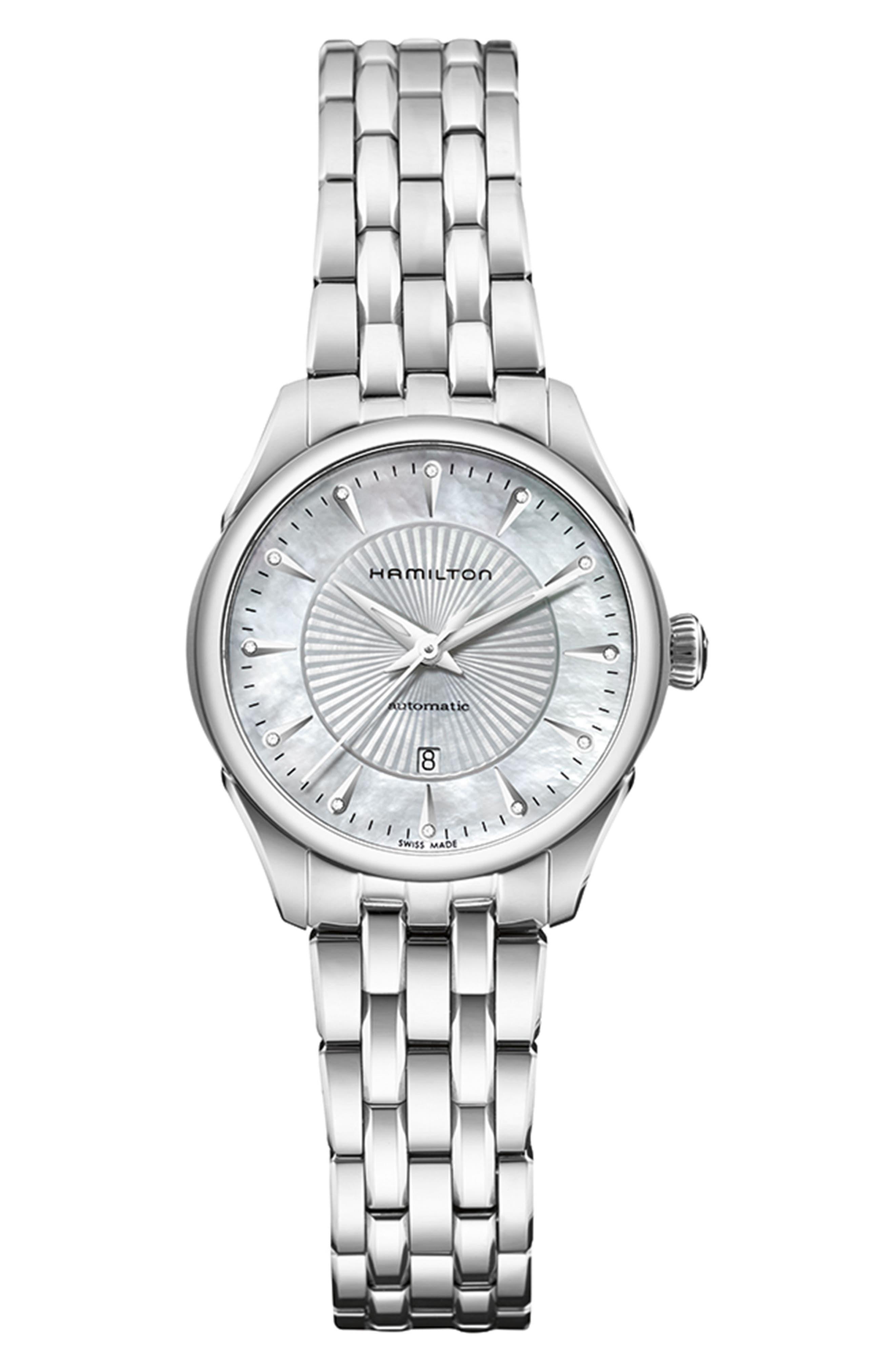 HAMILTON,                             Jazzmaster Automatic Bracelet Watch, 30mm,                             Main thumbnail 1, color,                             040