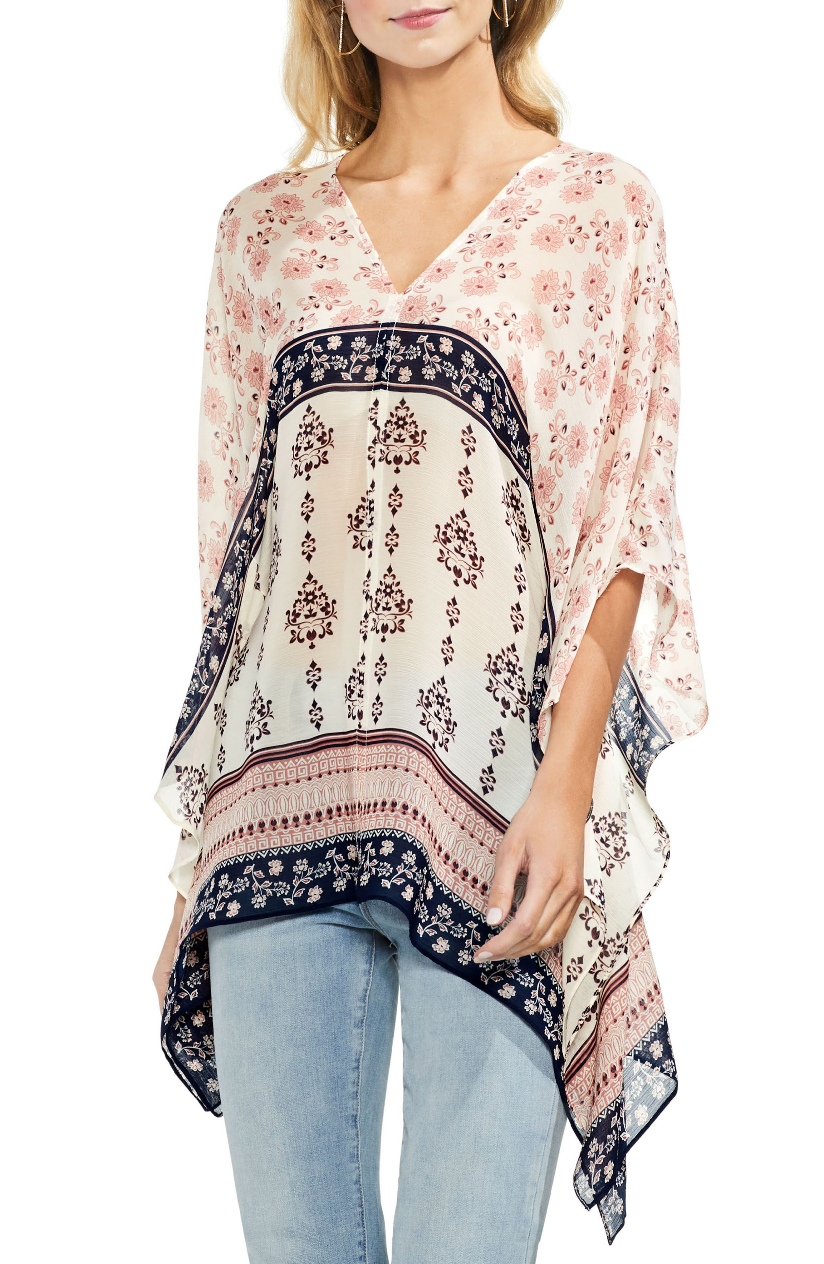 Wildflower Poncho,                         Main,                         color,
