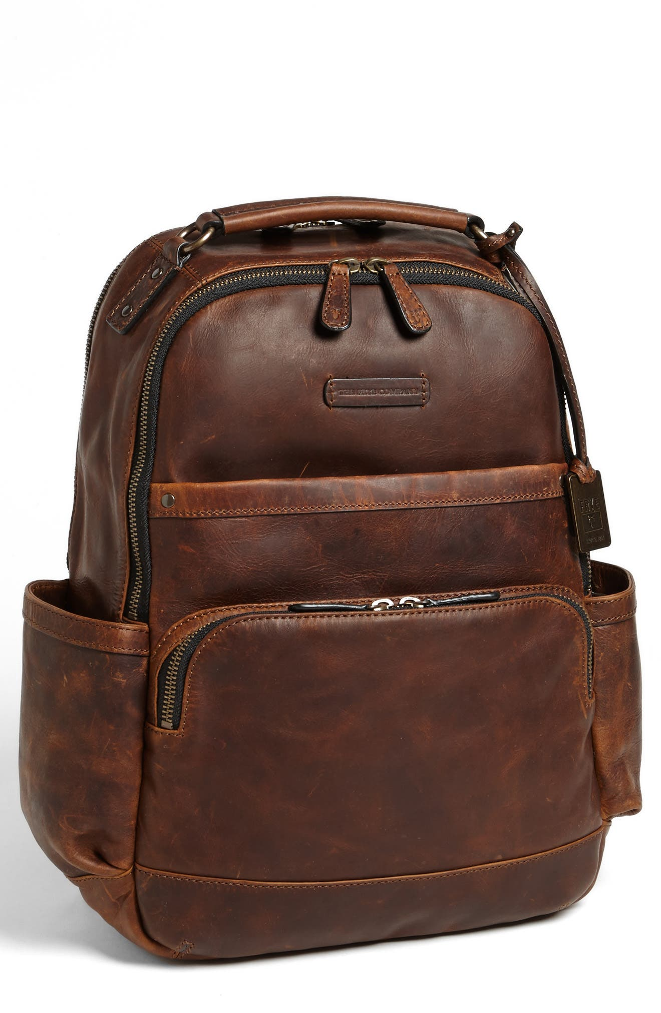 FRYE 'Logan' Leather Backpack - Brown in Dark Brown