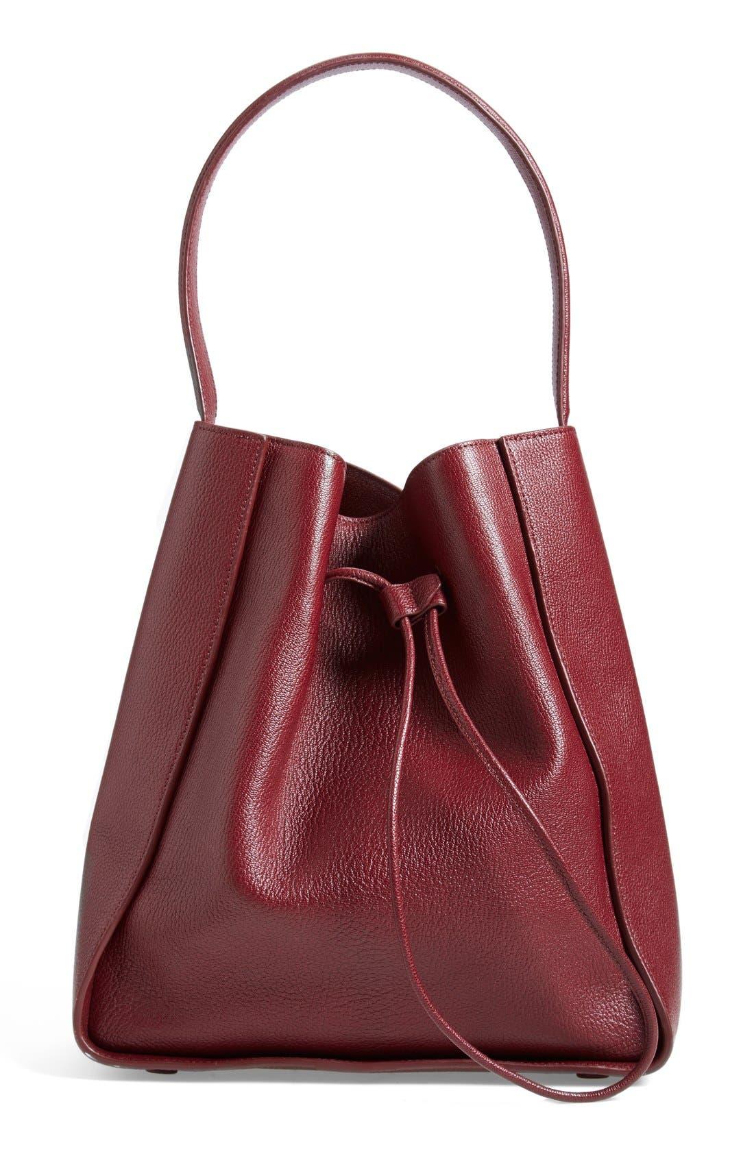 'Large Soleil' Leather Bucket Bag,                             Main thumbnail 4, color,